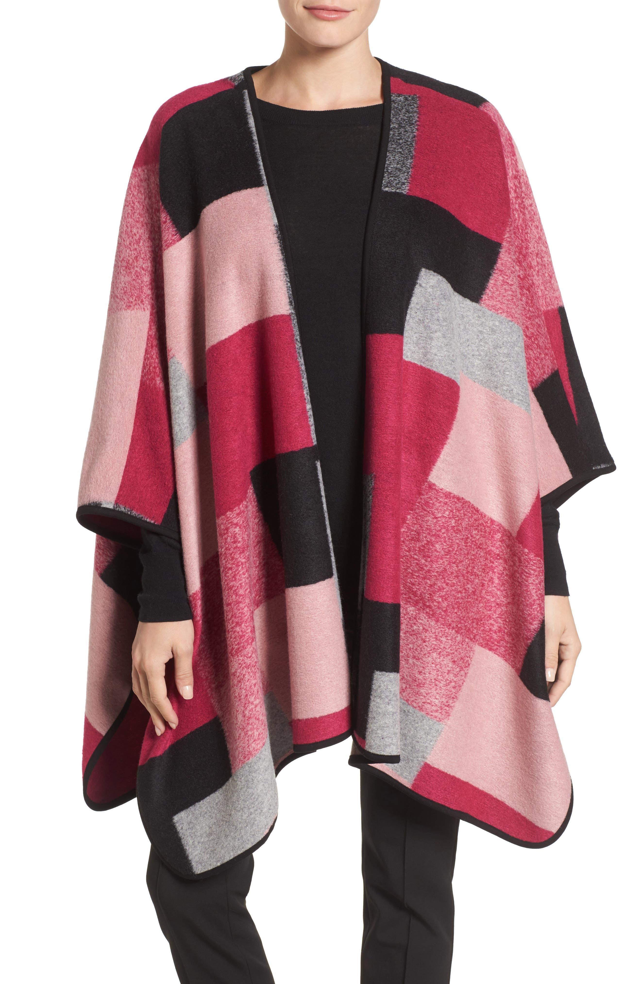 Chaus Geometric Wool-Blend Poncho