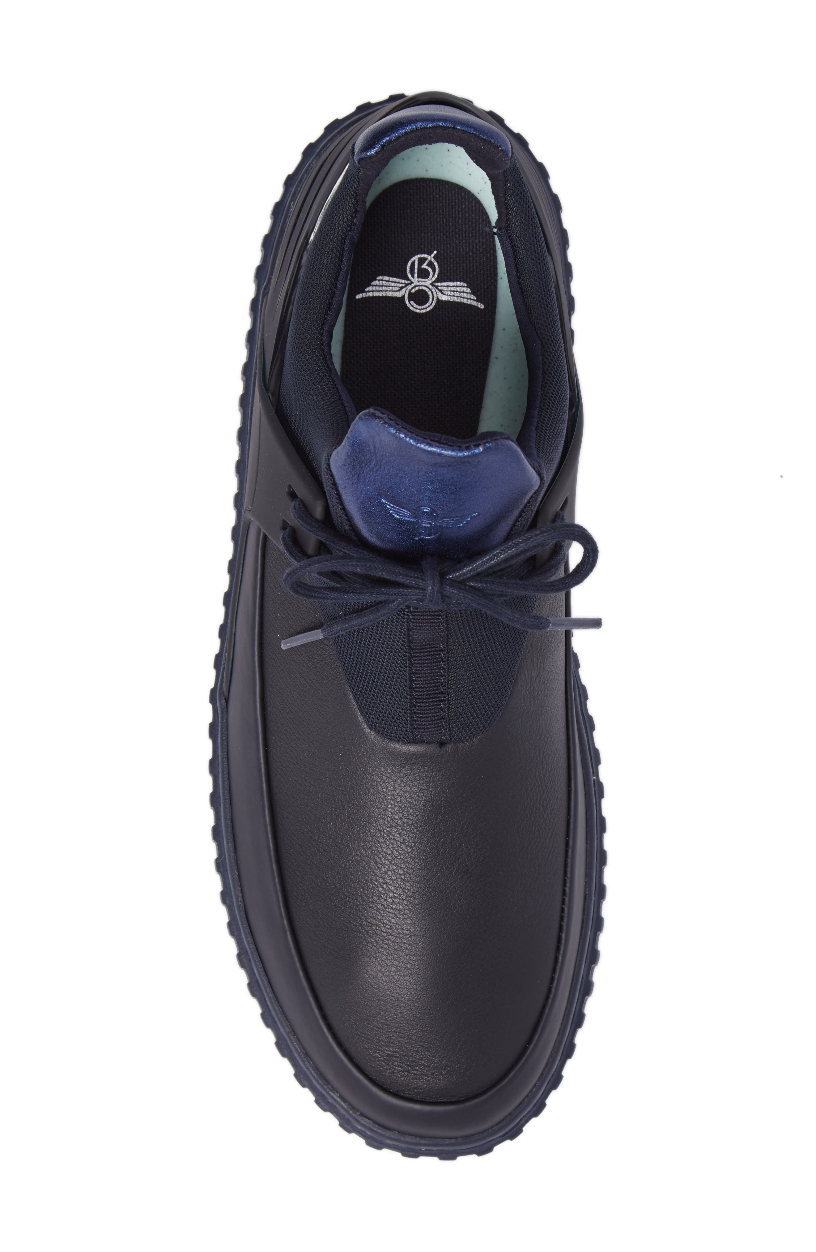 Castucci Mid Sneaker,                             Alternate thumbnail 5, color,                             Navy Leather