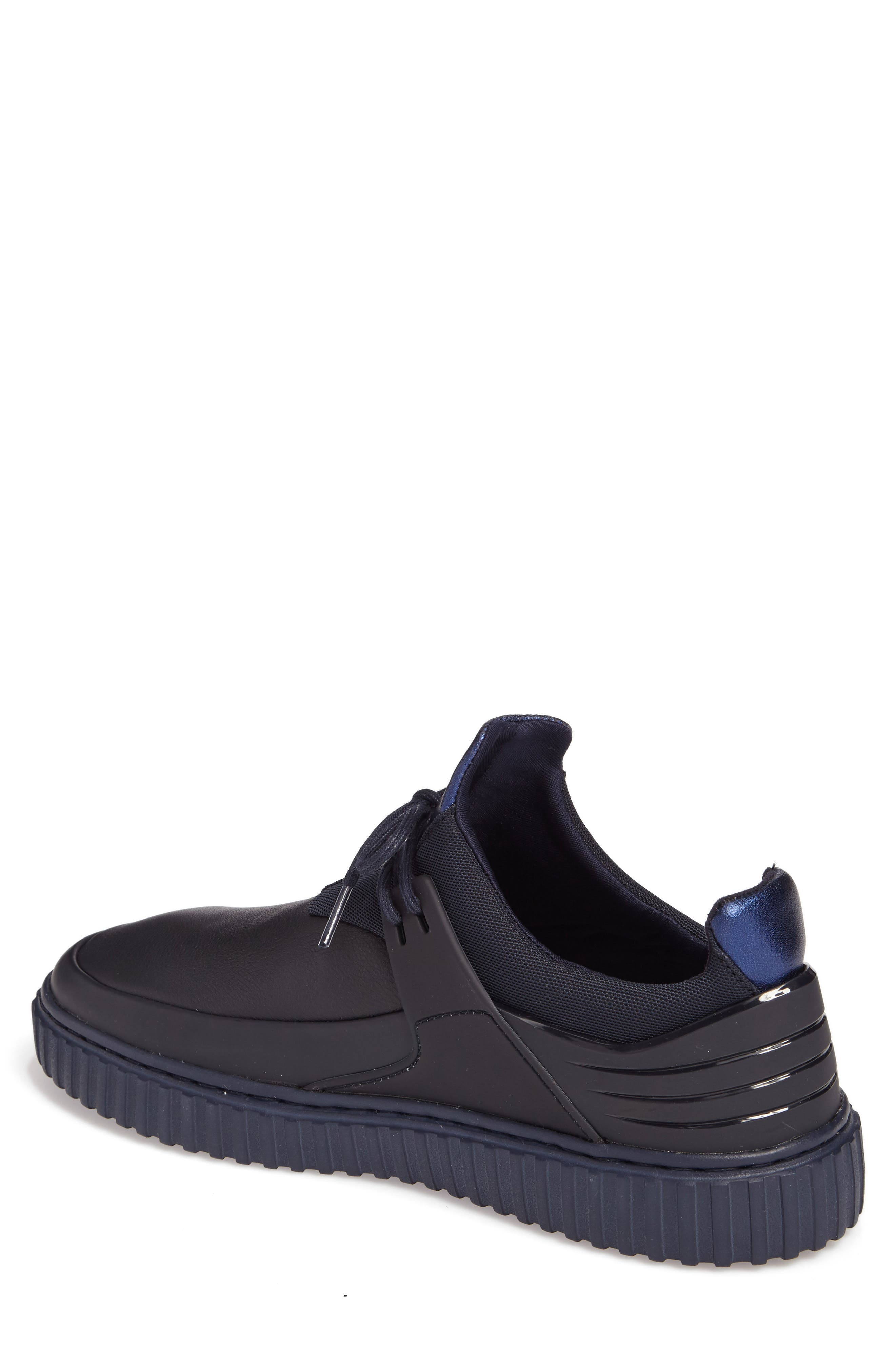 Castucci Mid Sneaker,                             Alternate thumbnail 2, color,                             Navy Leather