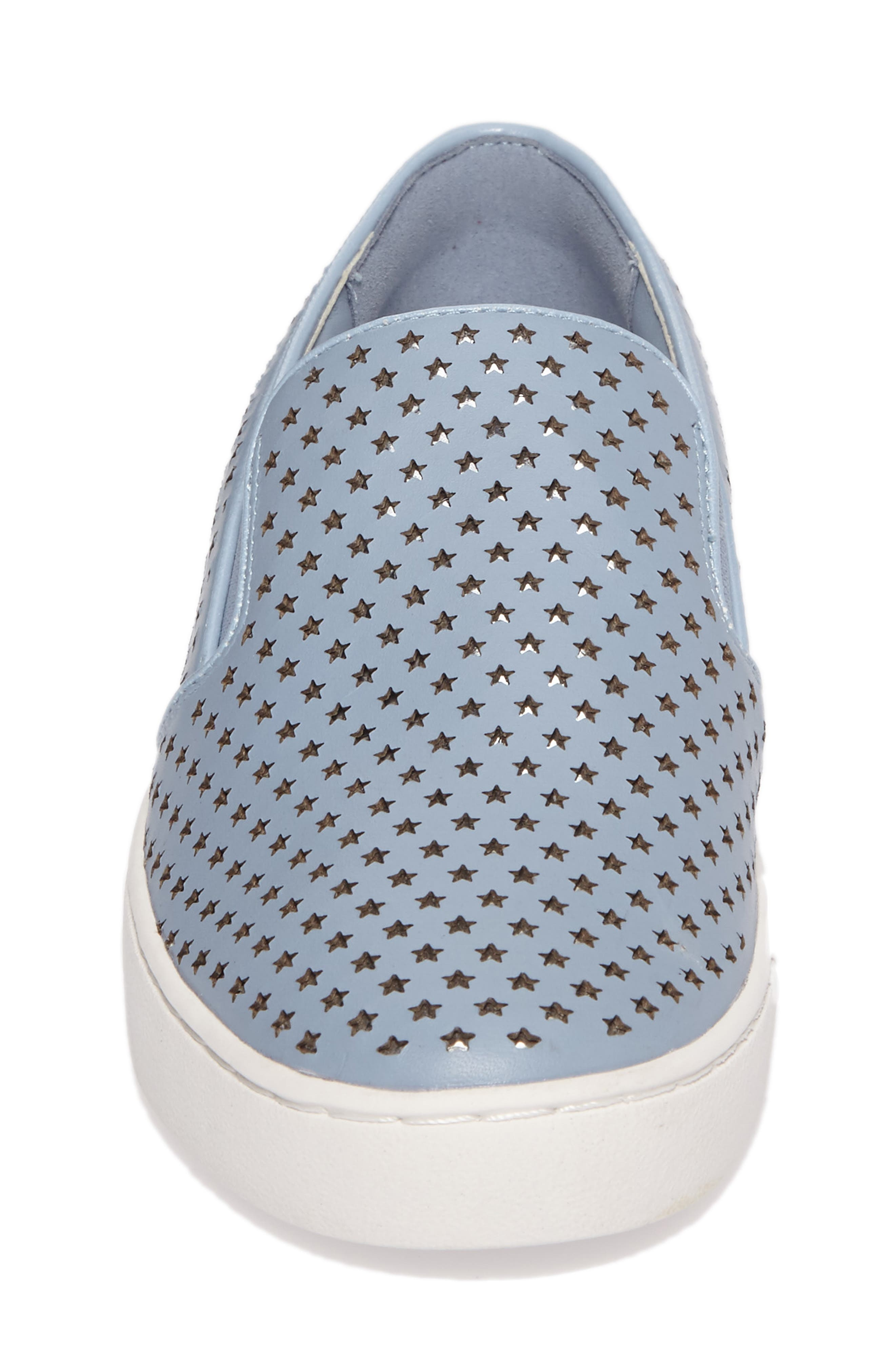 Keaton Slip-On Sneaker,                             Alternate thumbnail 4, color,                             Pale Blue Perforated Star