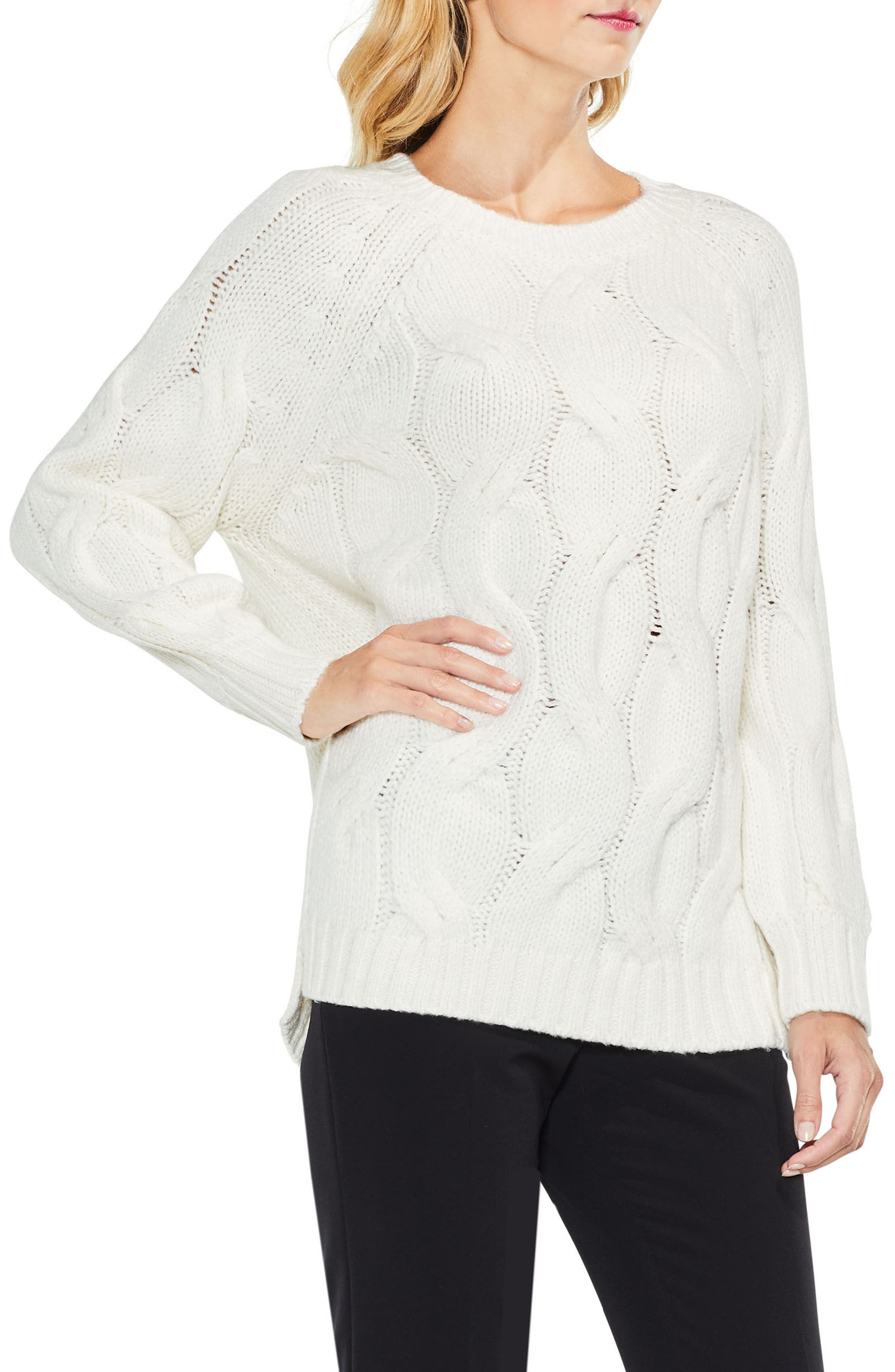 Vince Camuto Long Sleeve Chunky Cable Sweater