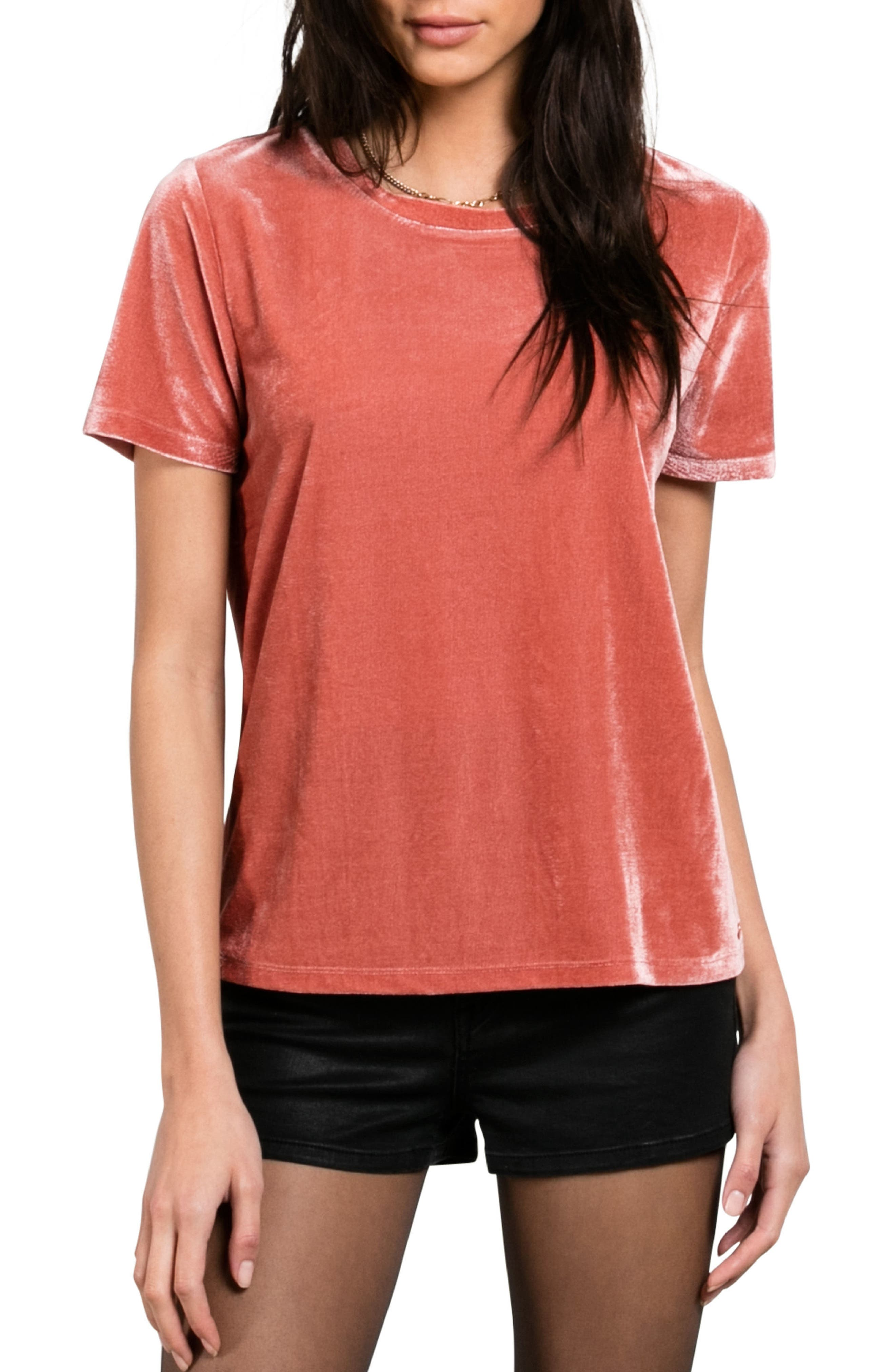 Velour You In Tee,                             Main thumbnail 1, color,                             Mauve