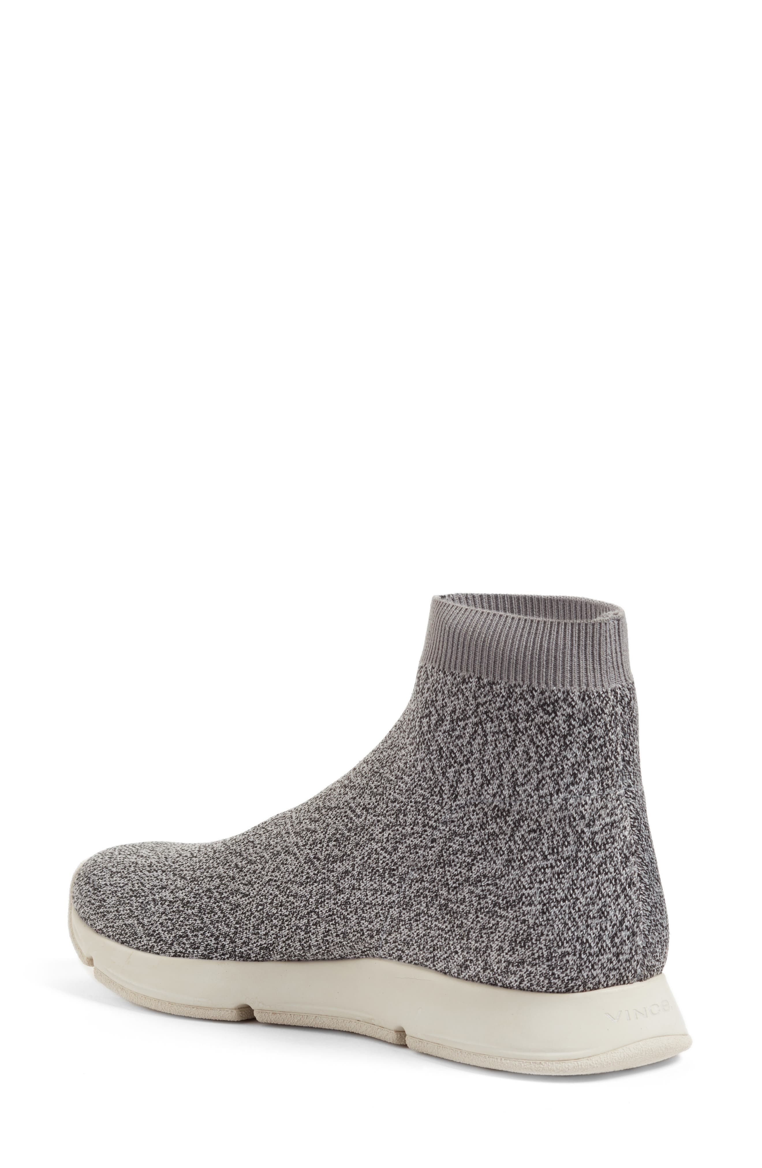 Tyra Sock Sneaker,                             Alternate thumbnail 2, color,                             Grey Marl