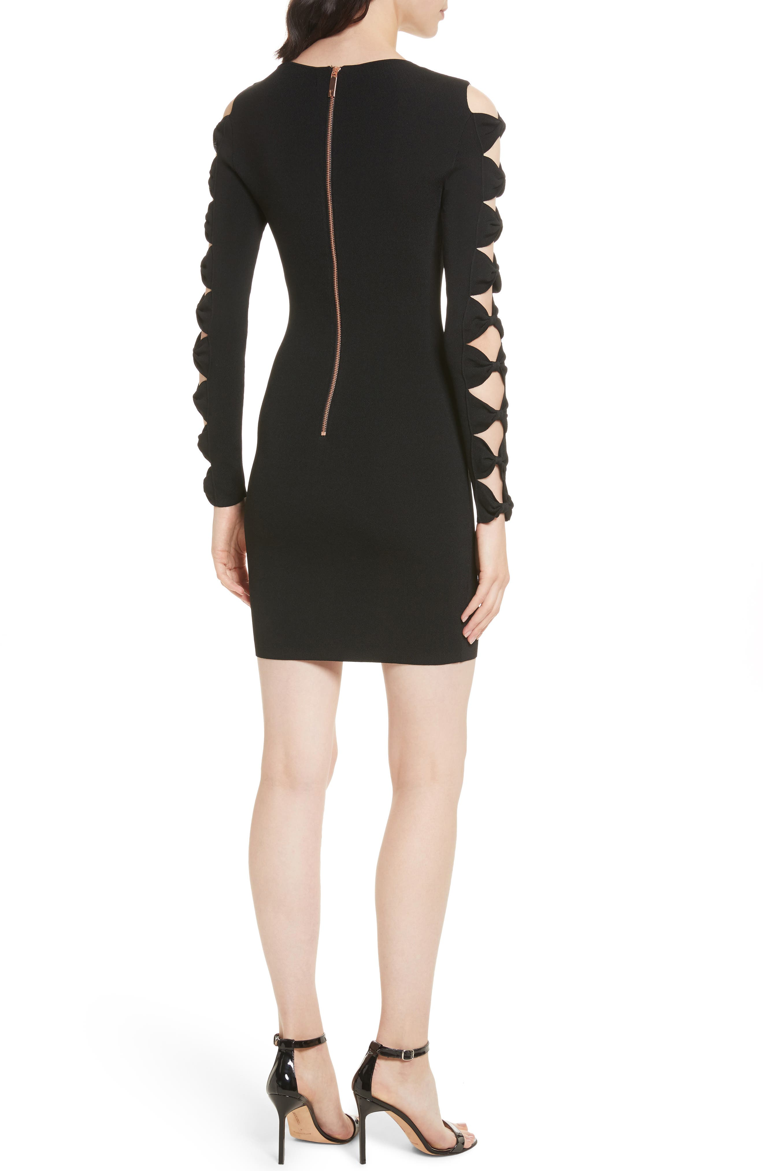 Alternate Image 2  - Ted Baker London Knotted Sleeve Body-Con Dress