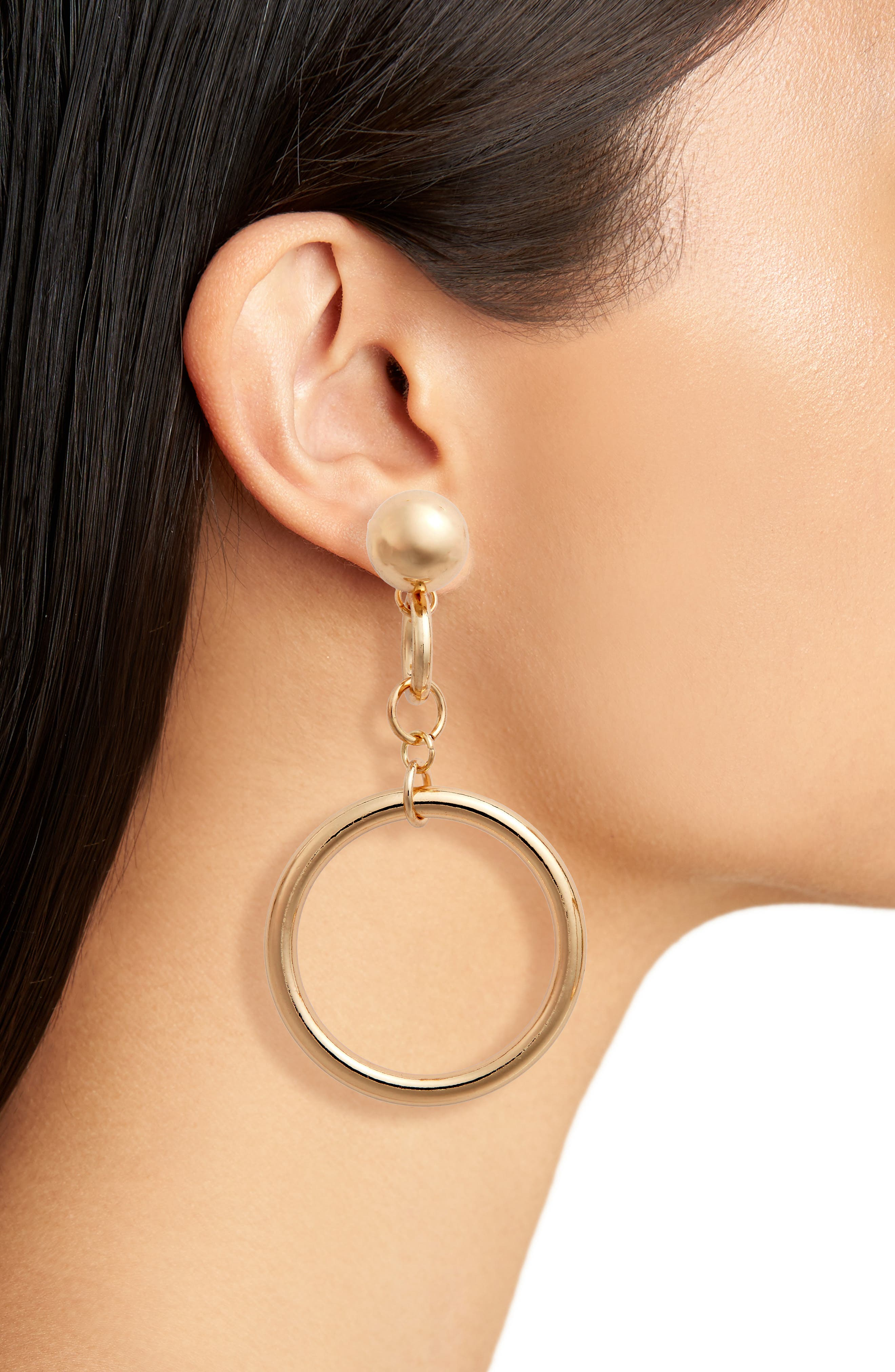 Alternate Image 2  - BP. Ball Chain Drop Earrings