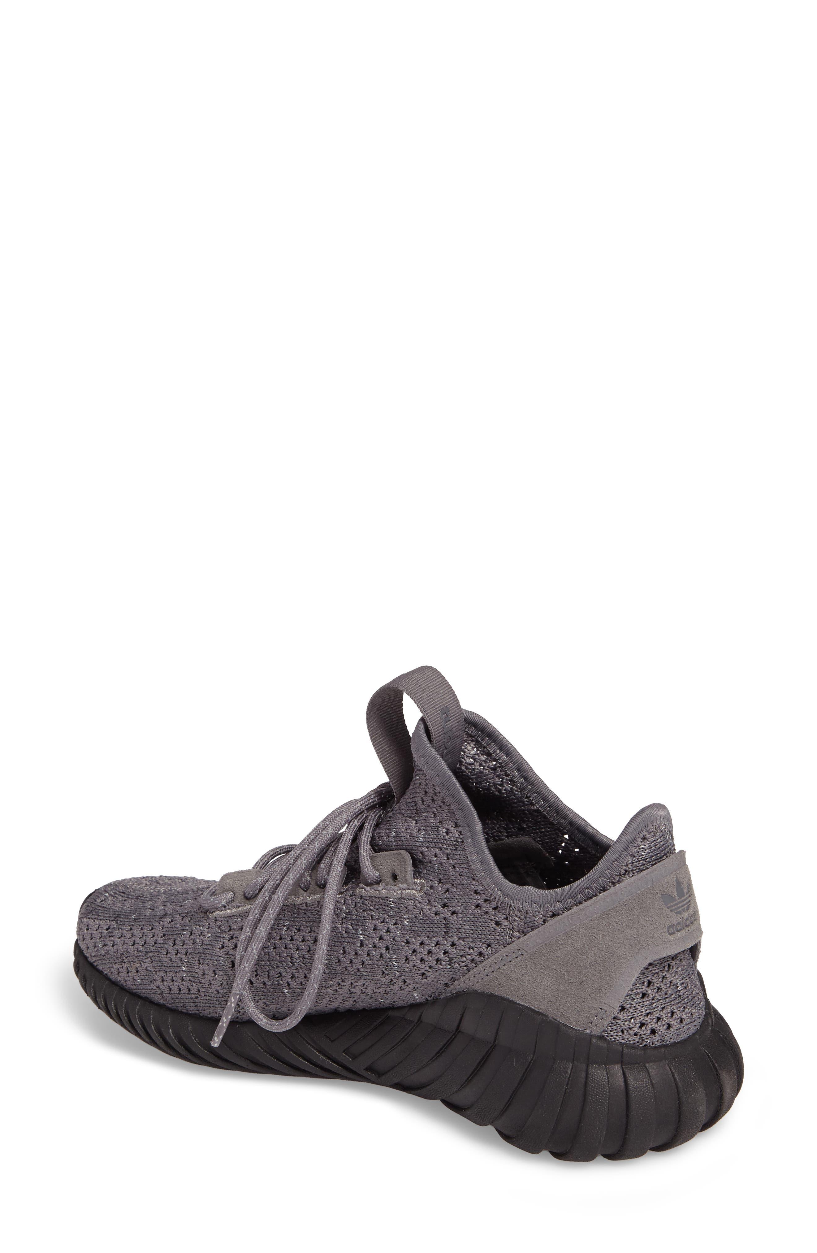 Tubular Doom Sock Primeknit Sneaker,                             Alternate thumbnail 2, color,                             Grey / Core Black/ White
