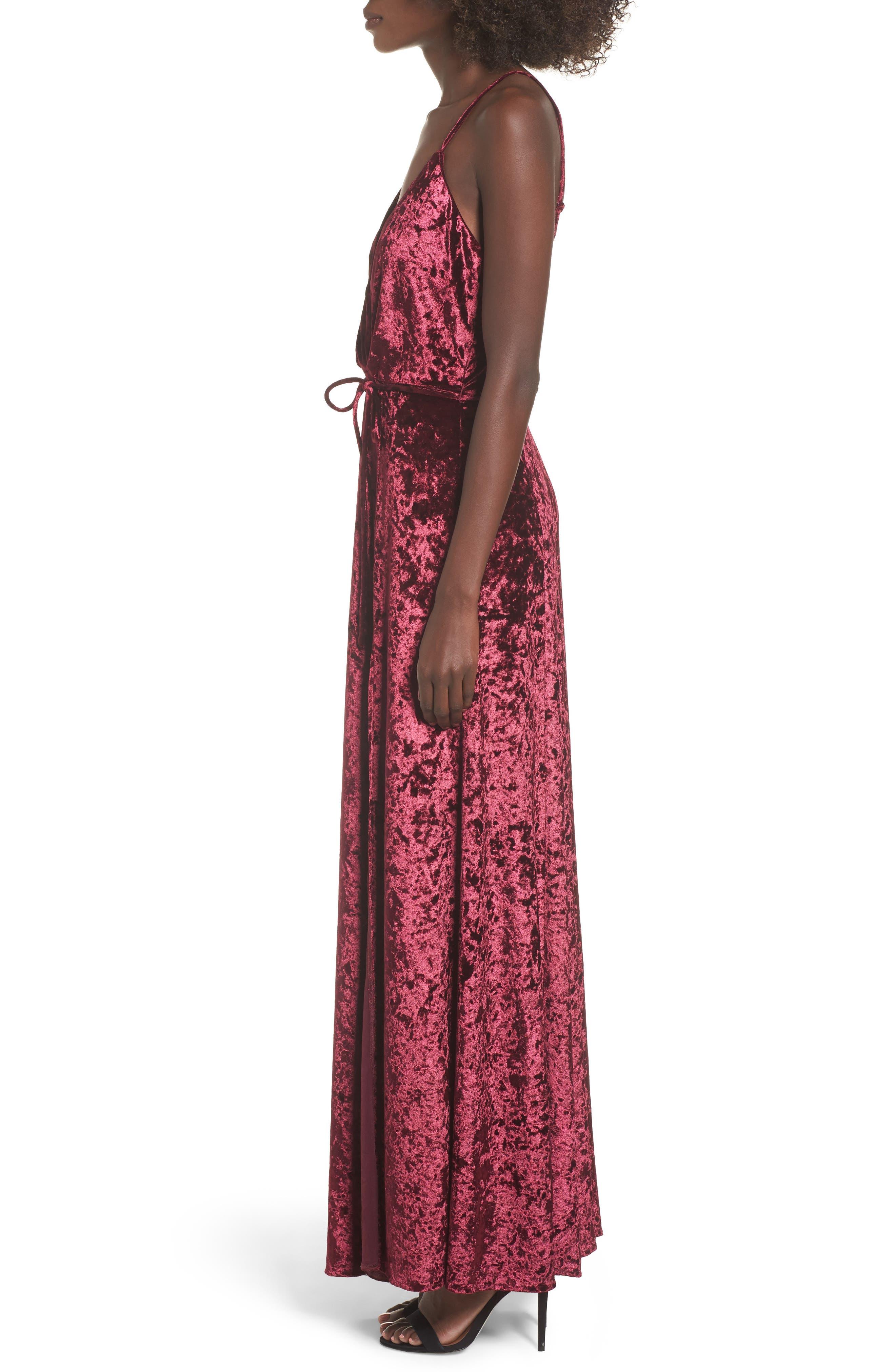 Crenshaw Maxi Dress,                             Alternate thumbnail 3, color,                             Bordeaux