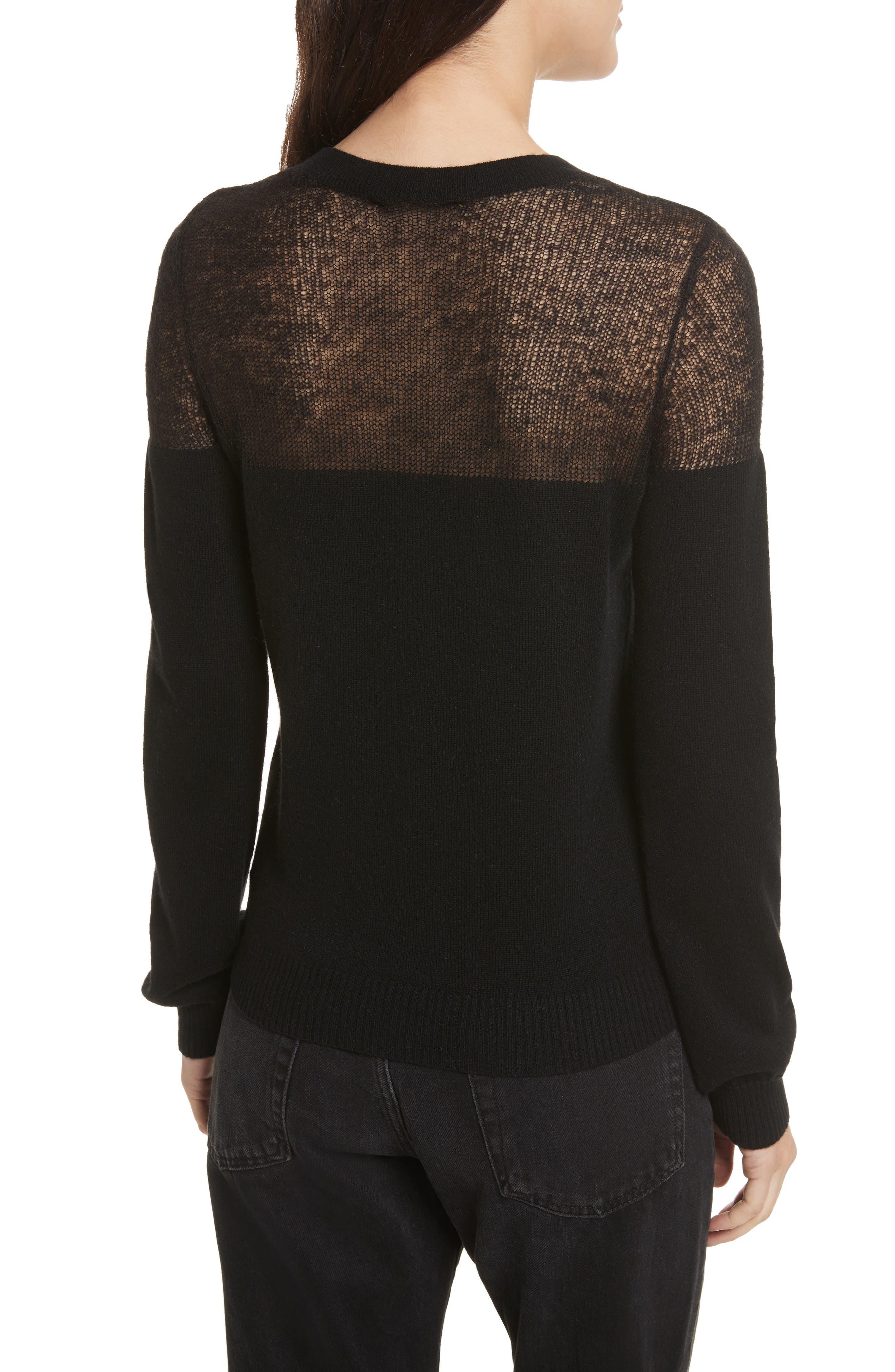 Clarence Sweater,                             Alternate thumbnail 2, color,                             Black Multi
