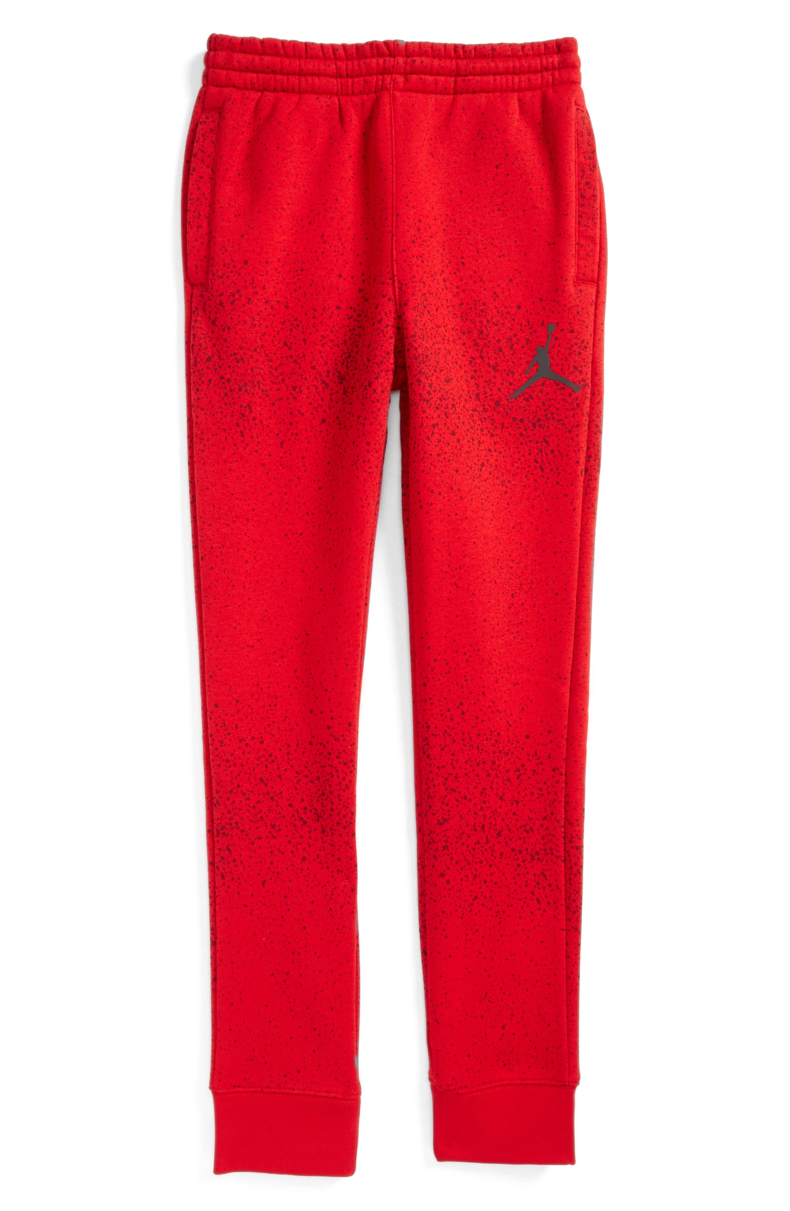 Jordan Flight Sweatpants,                         Main,                         color, Gym Red