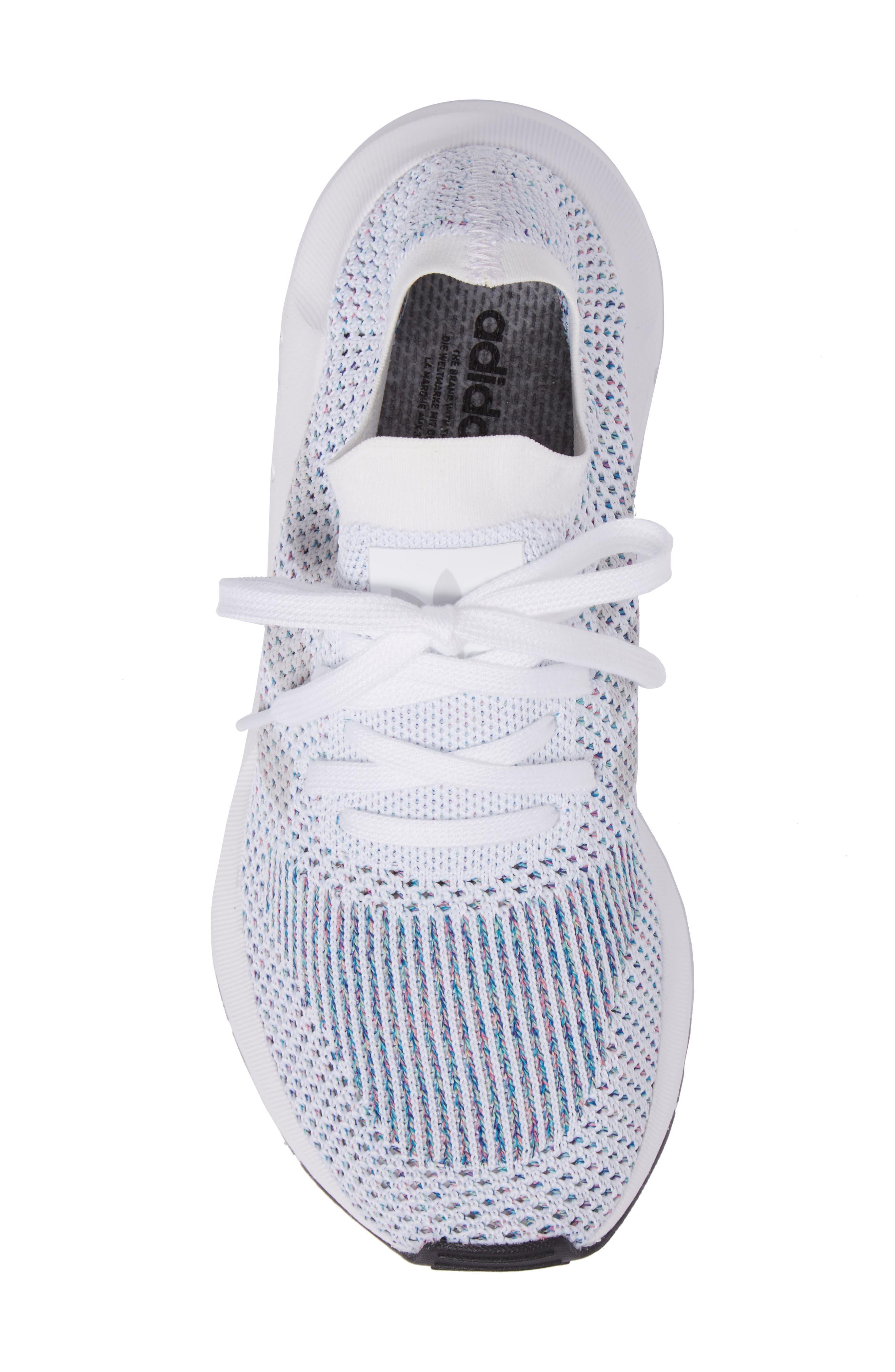 Swift Run Primeknit Training Shoe,                             Alternate thumbnail 5, color,                             White/ Off White/ Core Black