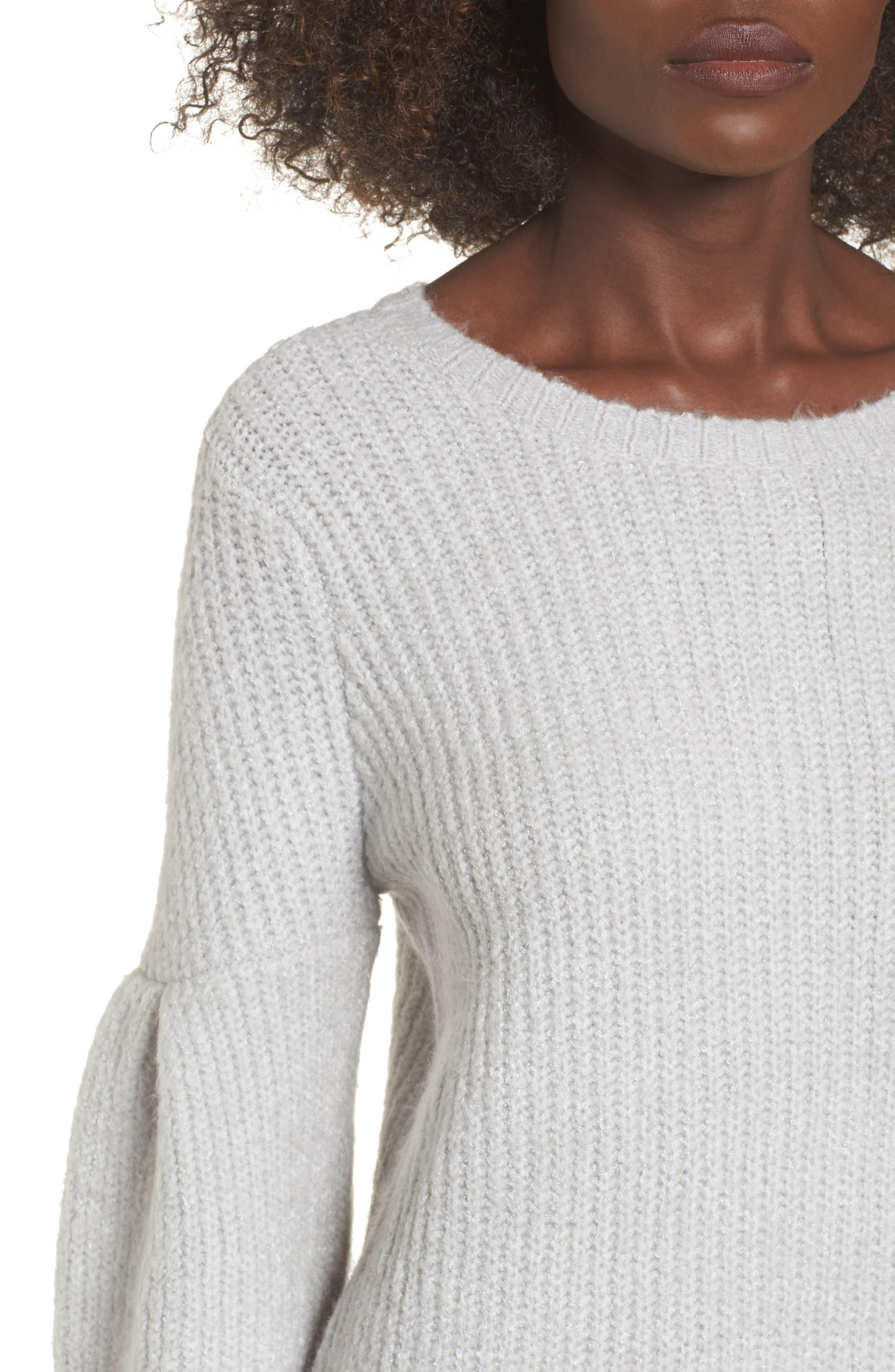 Gemstone Sweater Dress,                             Alternate thumbnail 4, color,                             Warm Grey
