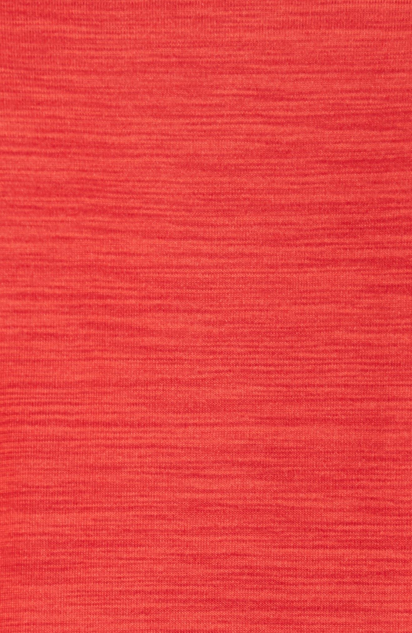 Dry Medalist Running Top,                             Alternate thumbnail 5, color,                             Deep Burgundy/ Habanero Red