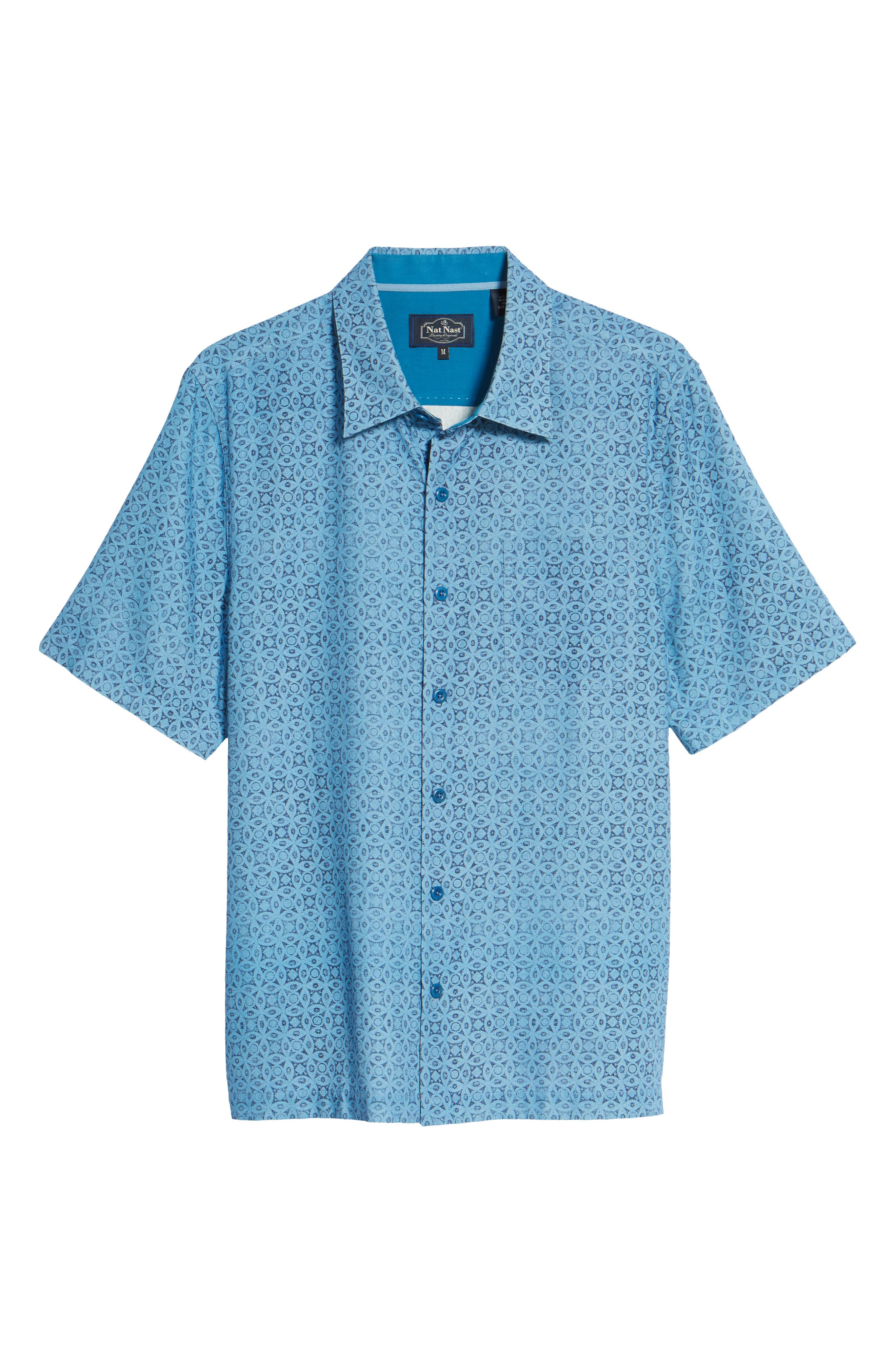 Alternate Image 6  - Nat Nast Moritz Classic Fit Silk Blend Camp Shirt