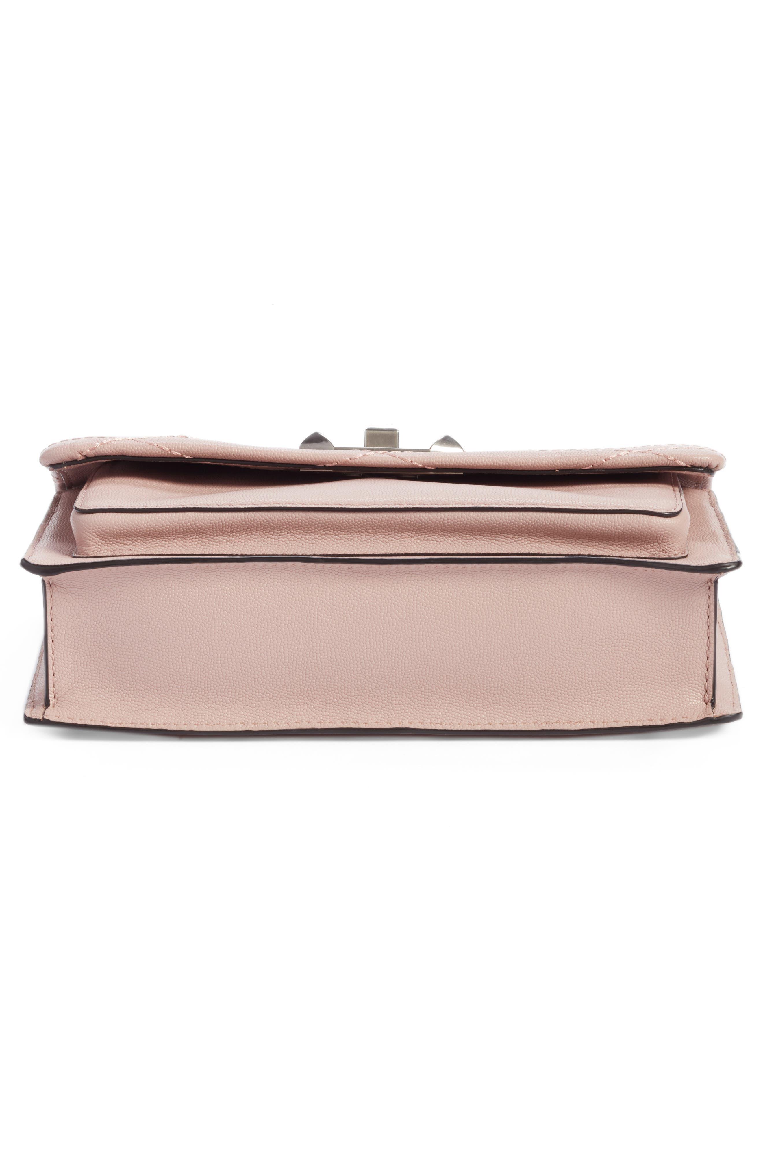 Medium Je T'aime Convertible Leather Crossbody Bag,                             Alternate thumbnail 5, color,                             Vintage Pink