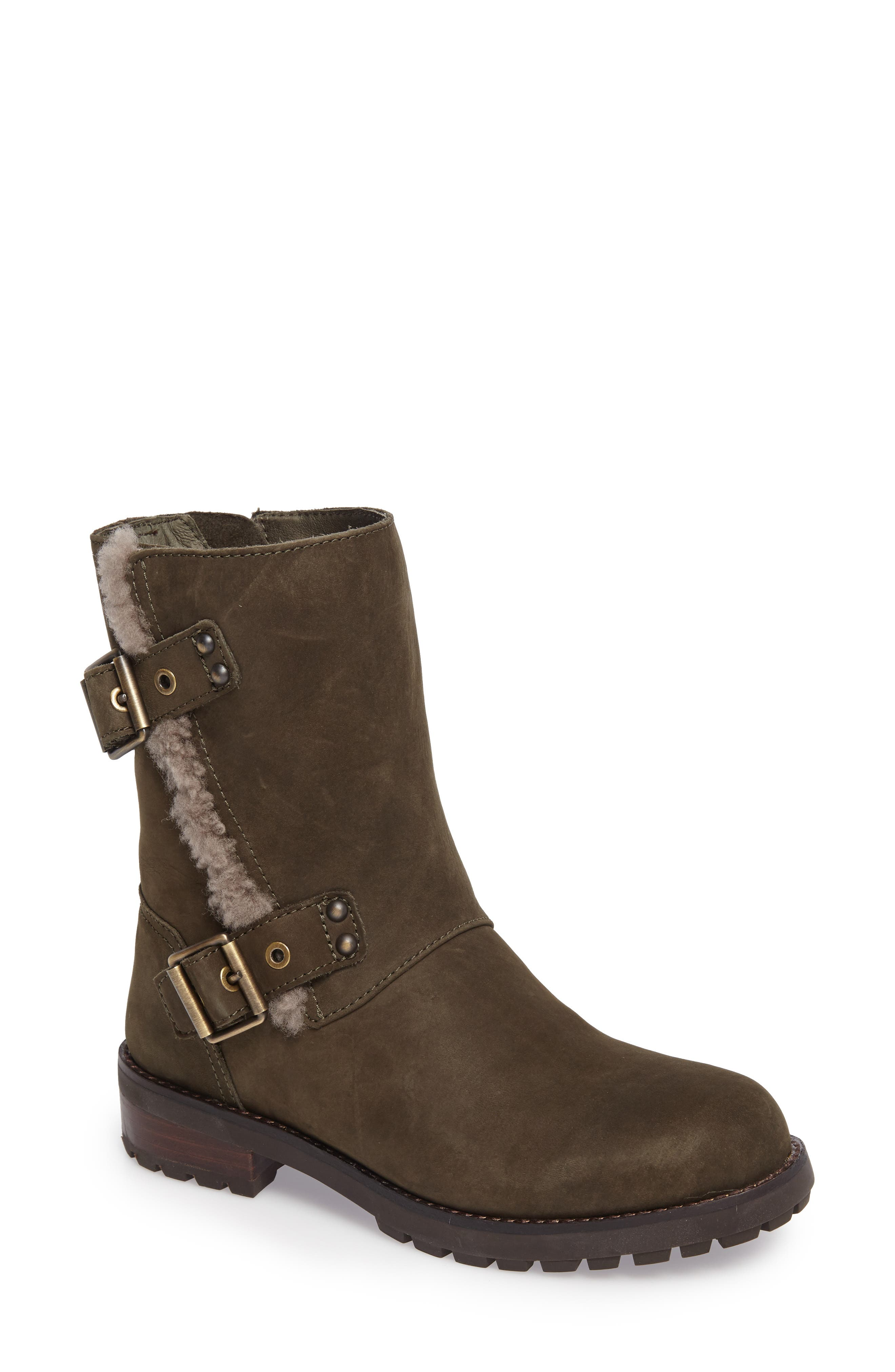 Alternate Image 1 Selected - UGG® Niels Water Resistant Genuine Shearling Boot (Women)