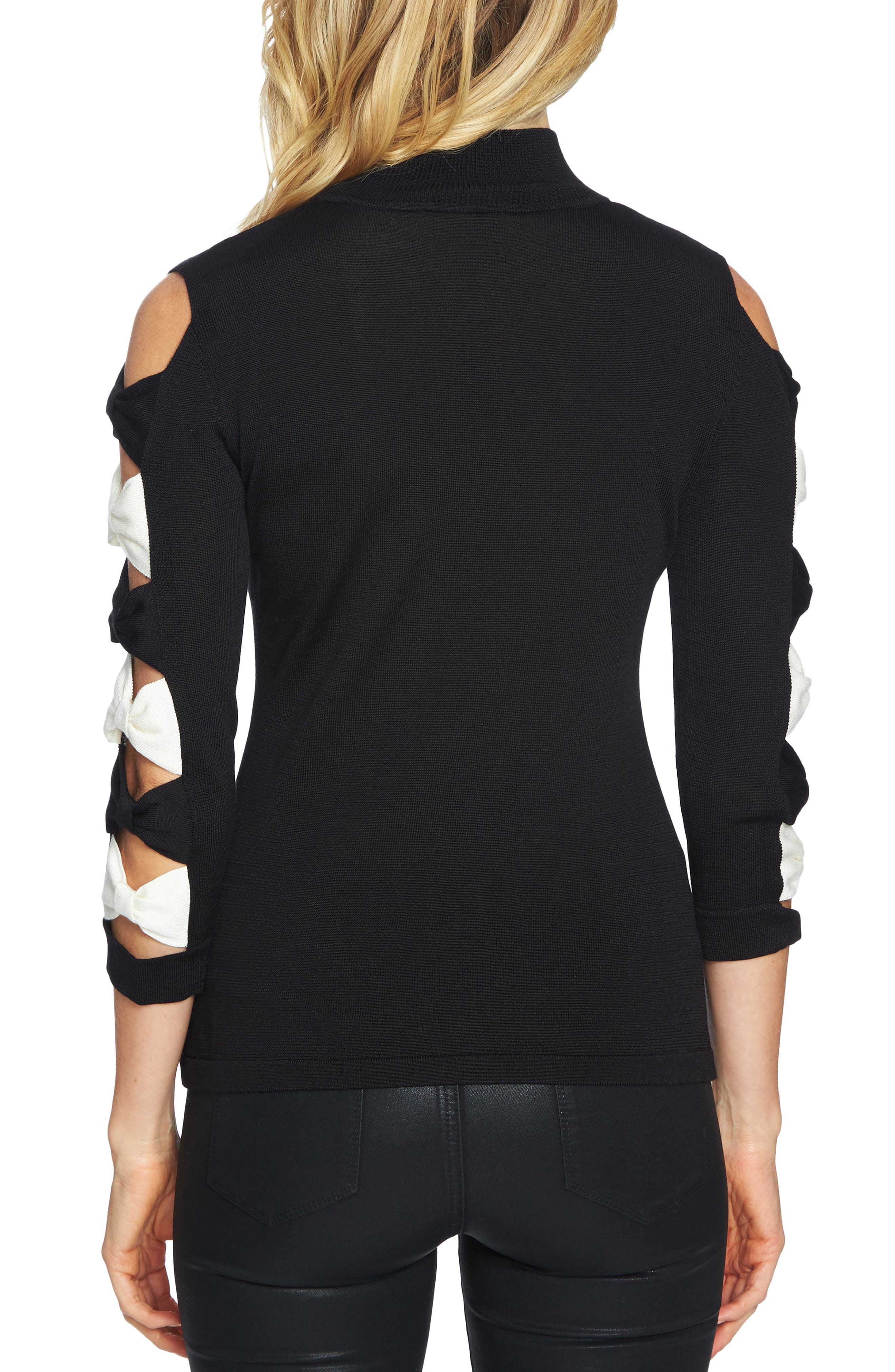 Alternate Image 2  - CeCe Bow Sleeve Sweater