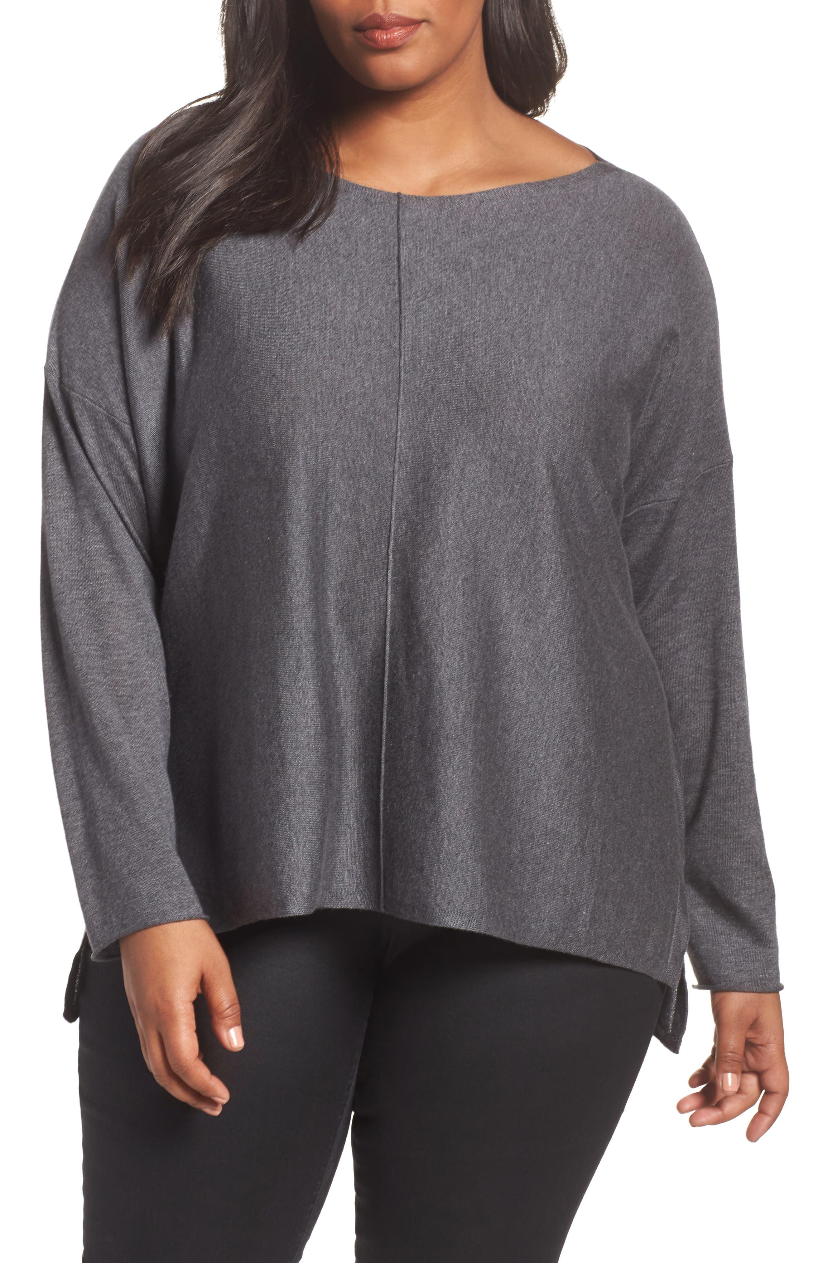 Eileen Fisher Tencel® Blend Sweater (Plus Size)