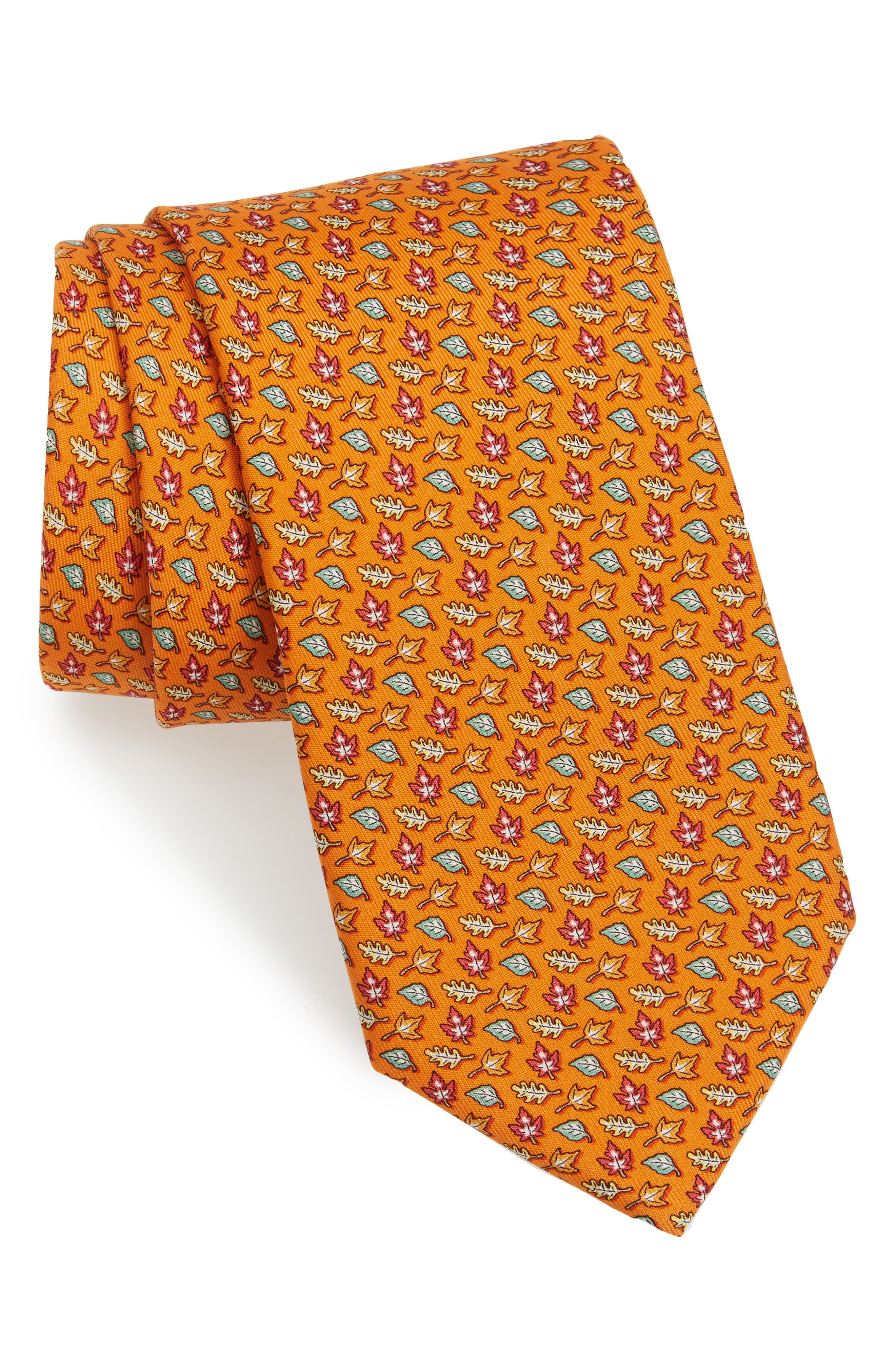 Alternate Image 1 Selected - Vineyard Vines Fall Leaves Silk Tie