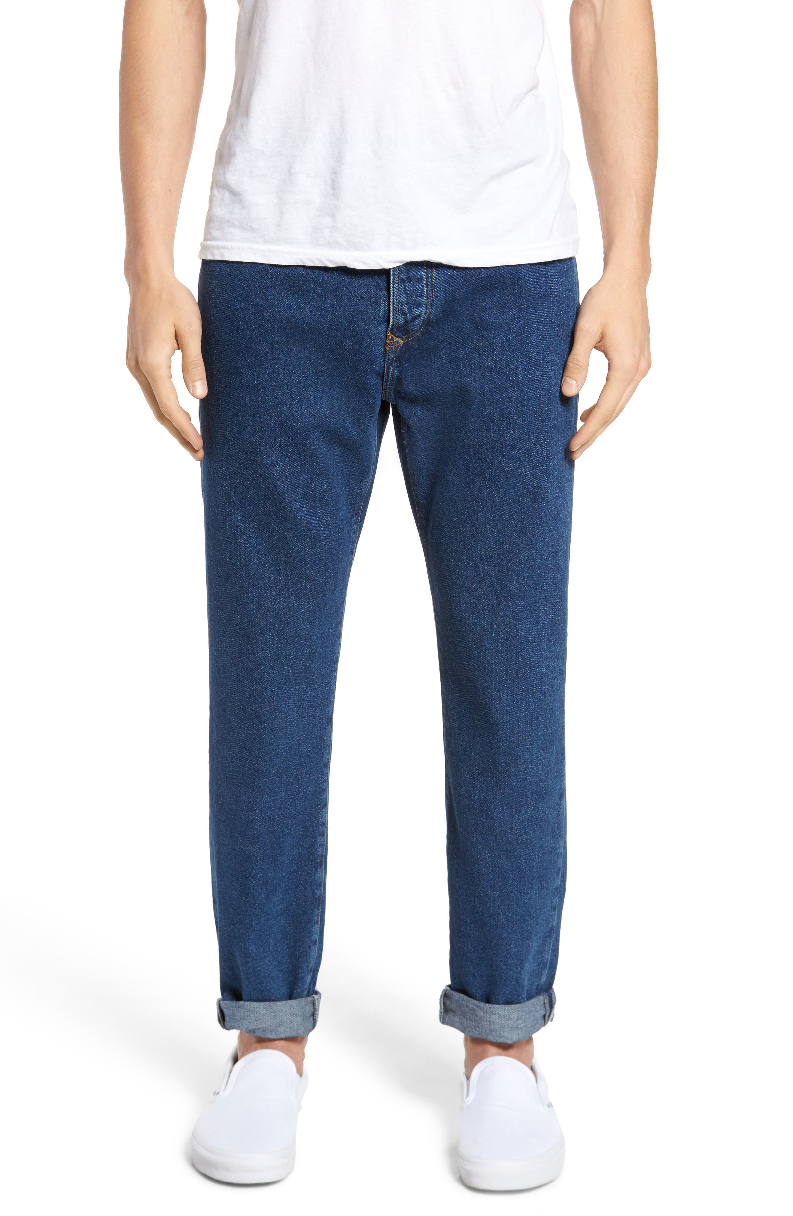 90s Classic Straight Leg Jeans,                             Main thumbnail 1, color,                             Denim Blue