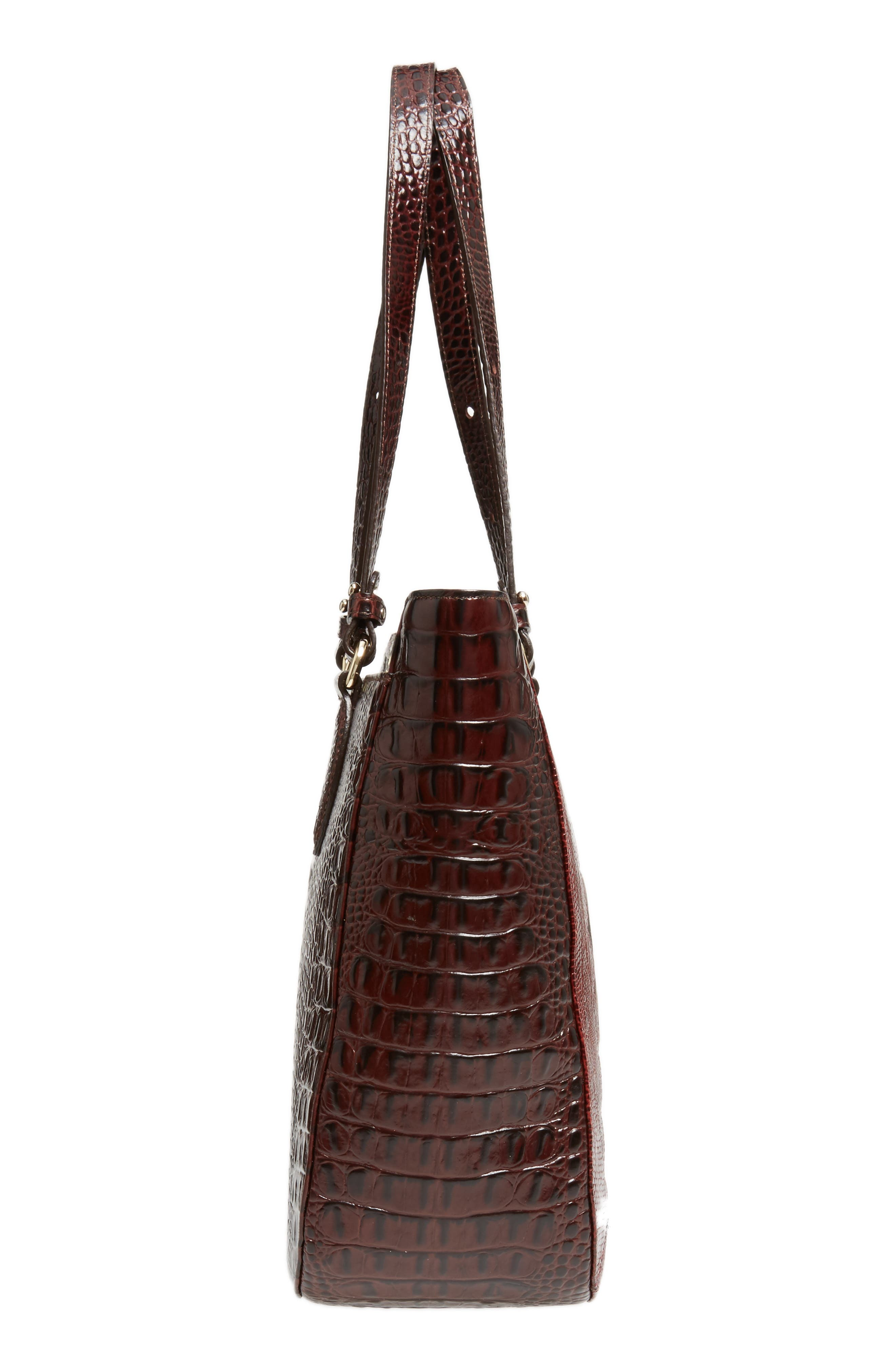 Medium Red Verona - Lena Leather Tote,                             Alternate thumbnail 4, color,                             Red