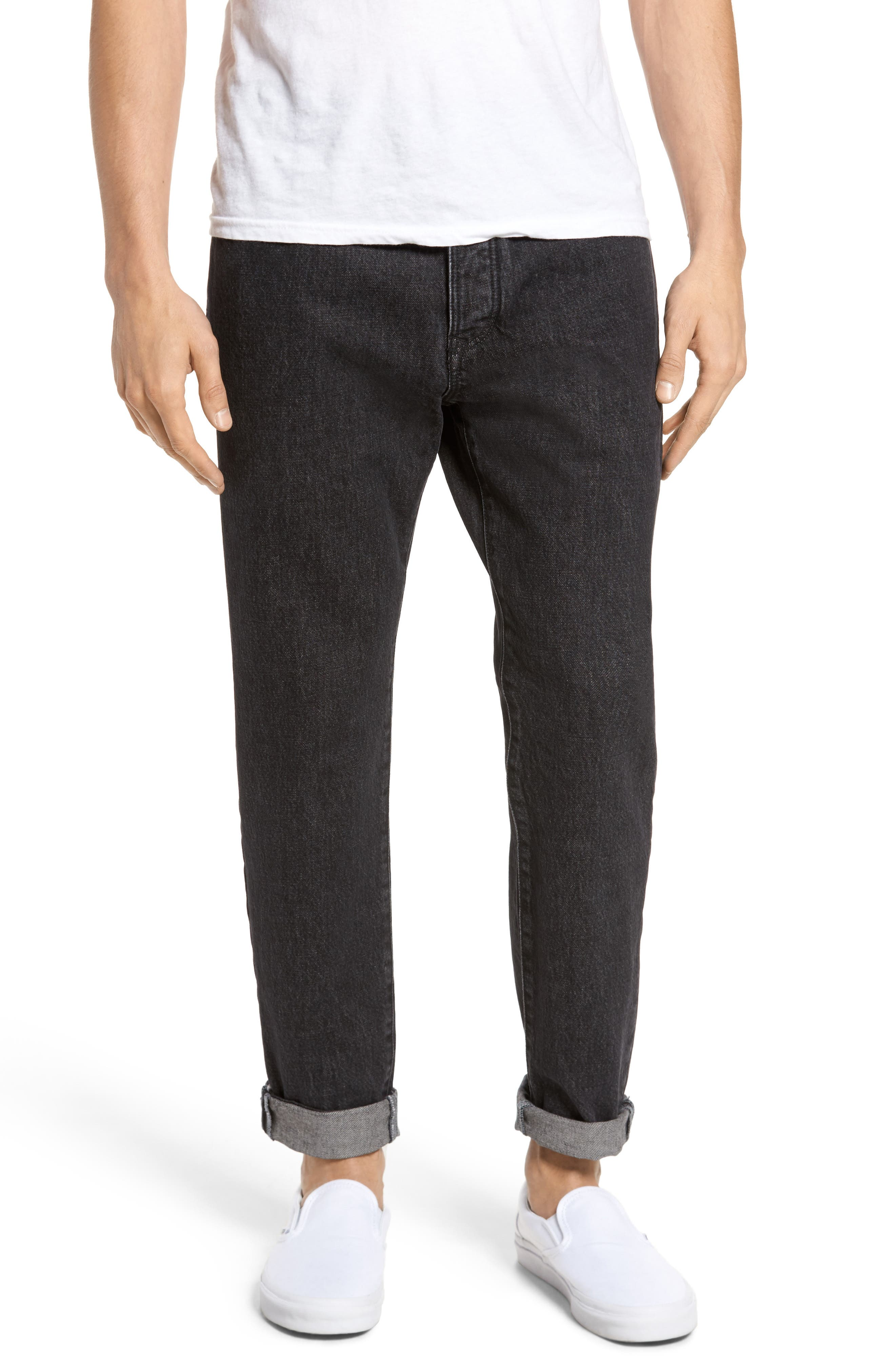 Alternate Image 1 Selected - Tommy Hilfiger 90s Classic Straight Leg Jeans (Black)