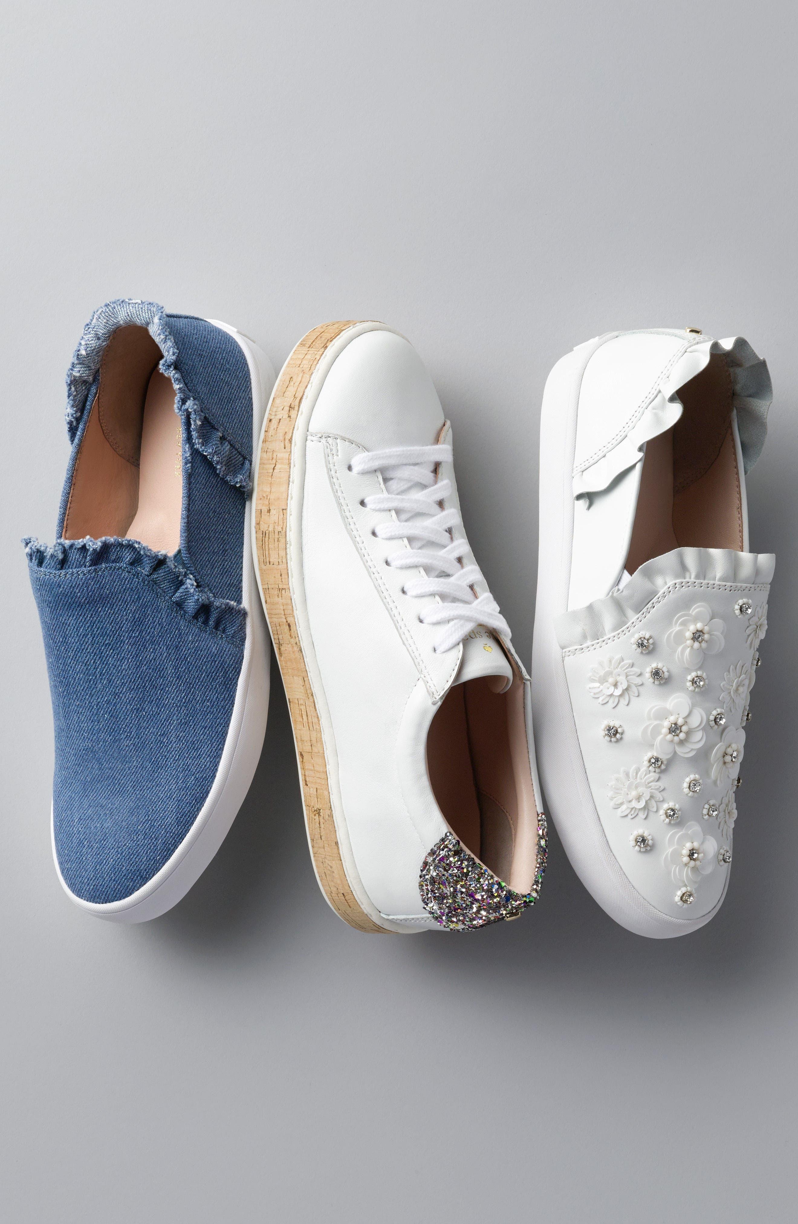 lilly ruffle slip-on sneaker,                             Alternate thumbnail 7, color,