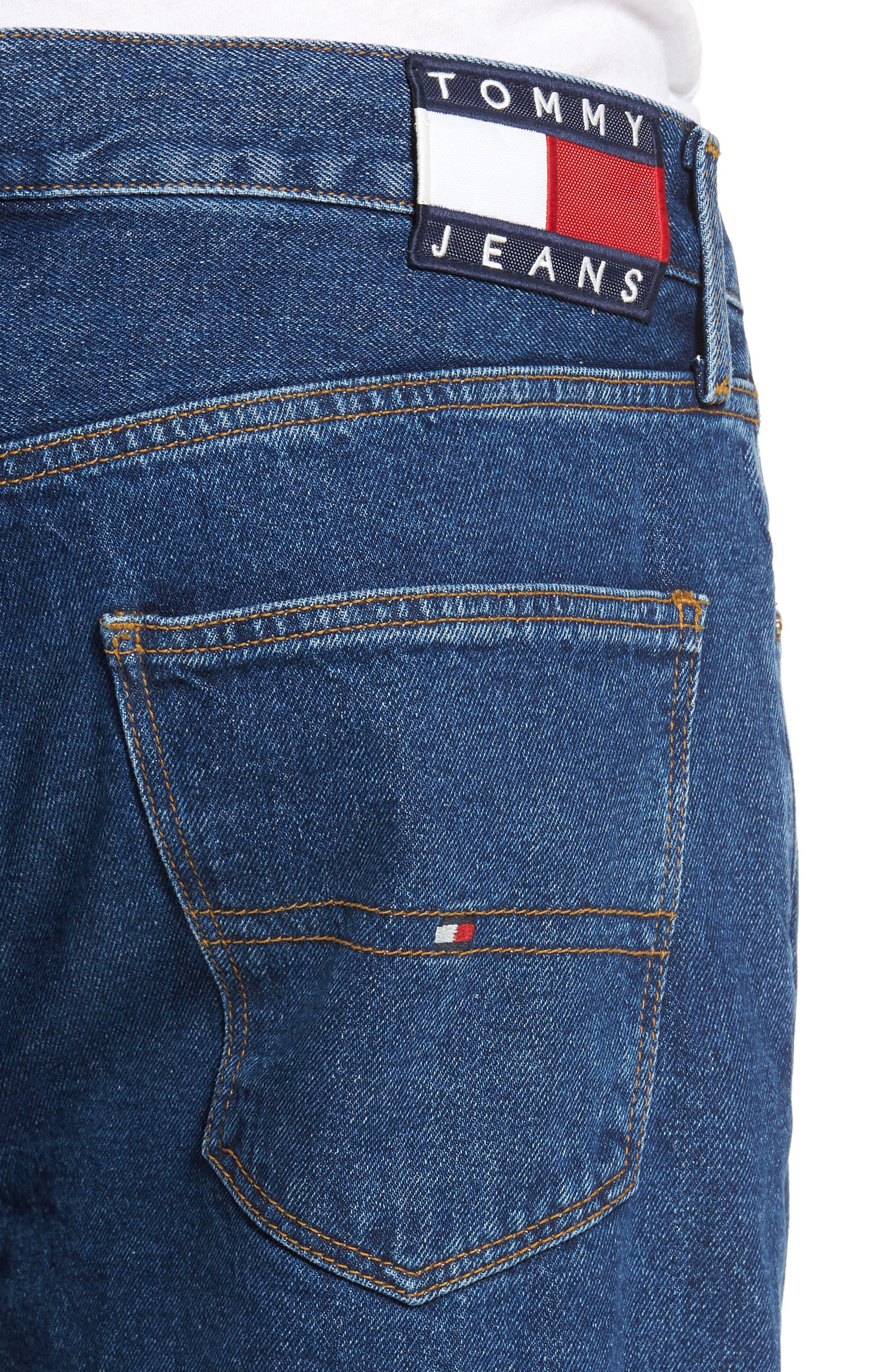 Alternate Image 4  - Tommy Hilfiger 90s Classic Straight Leg Jeans (Denim Blue)