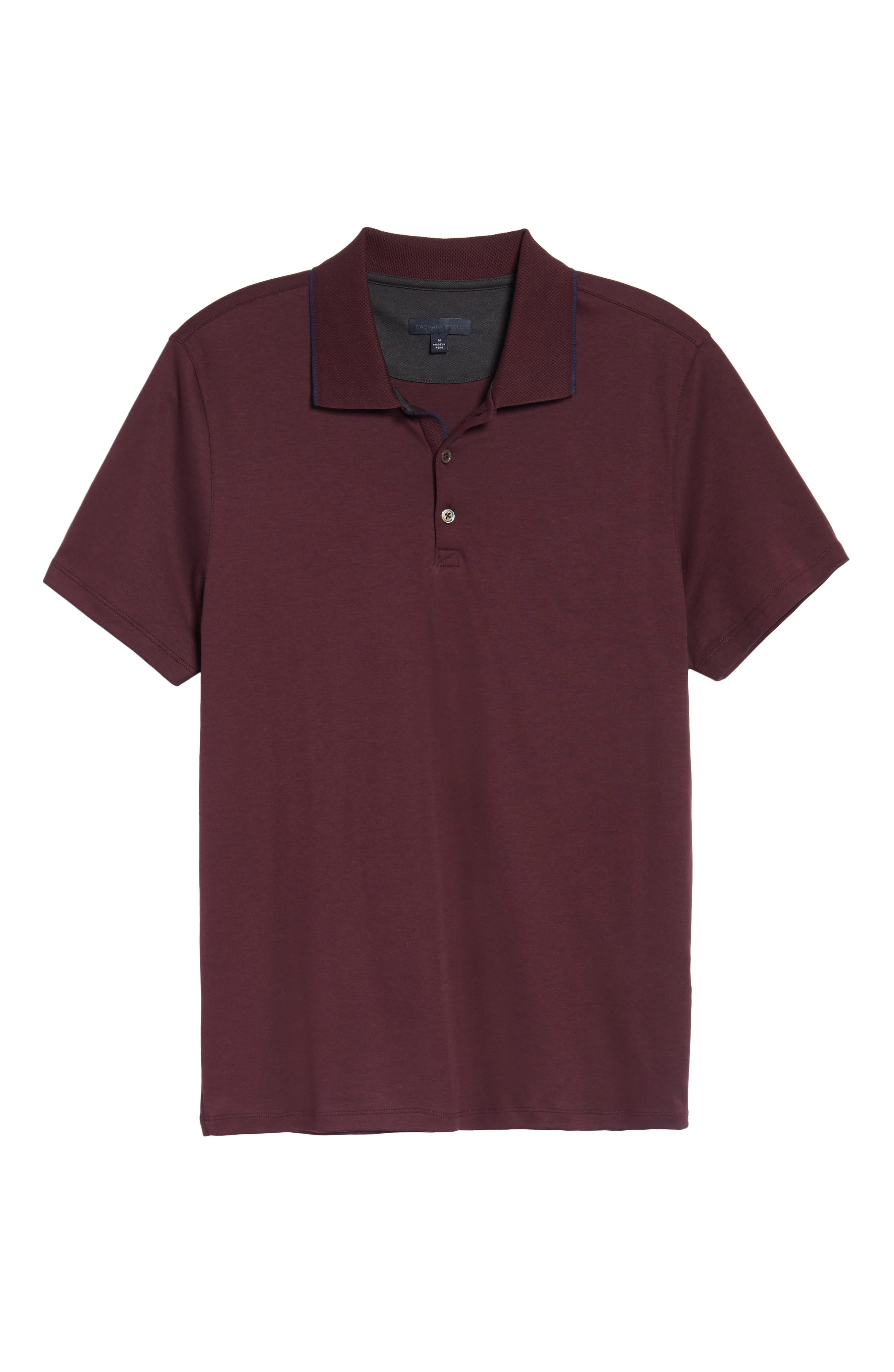 Grindstone Slim Fit Polo,                             Alternate thumbnail 6, color,                             Burgundy