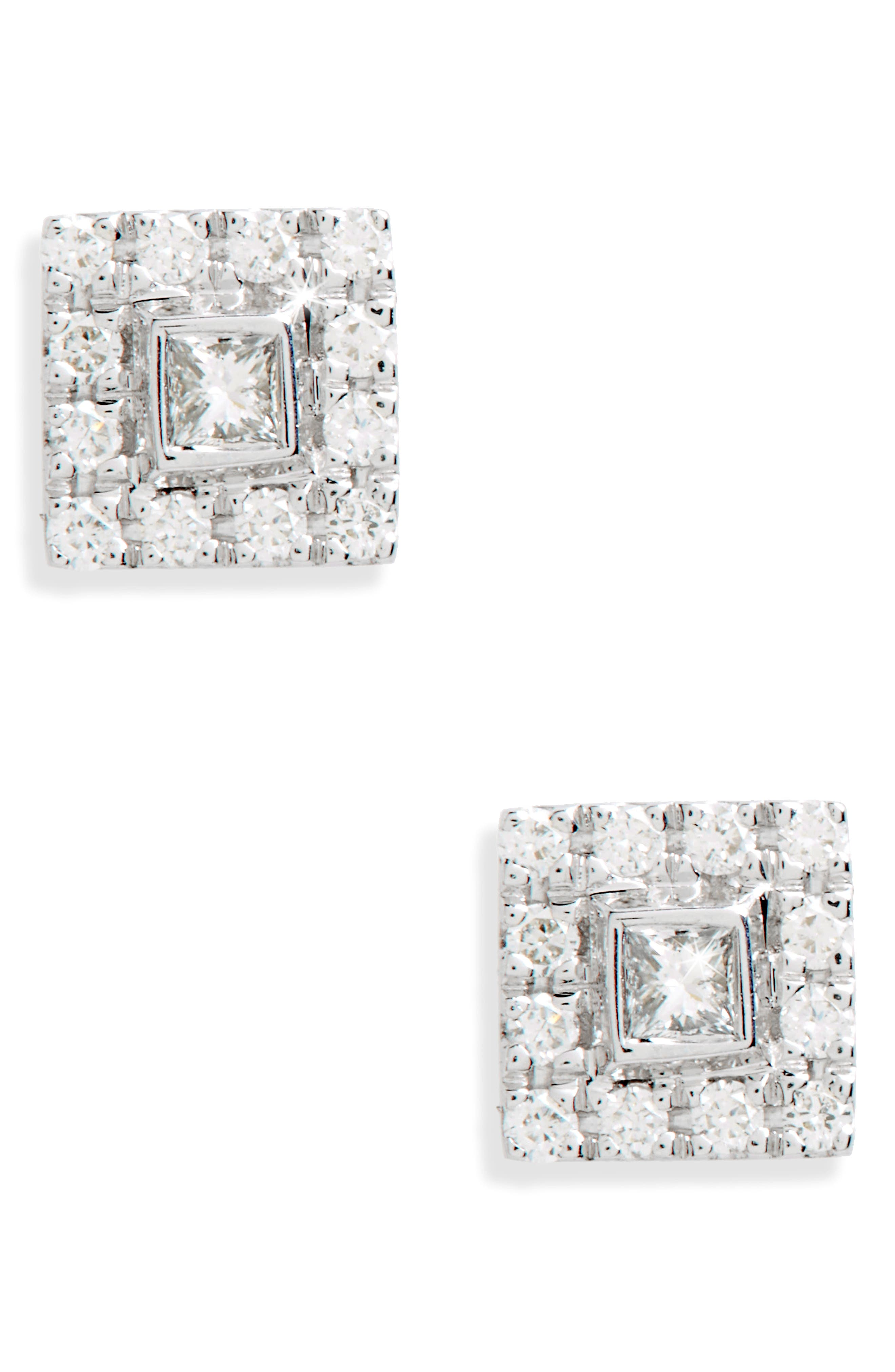 Alternate Image 1 Selected - Bony Levy Amara Small Square Diamond Stud Earrings (Nordstrom Exclusive)