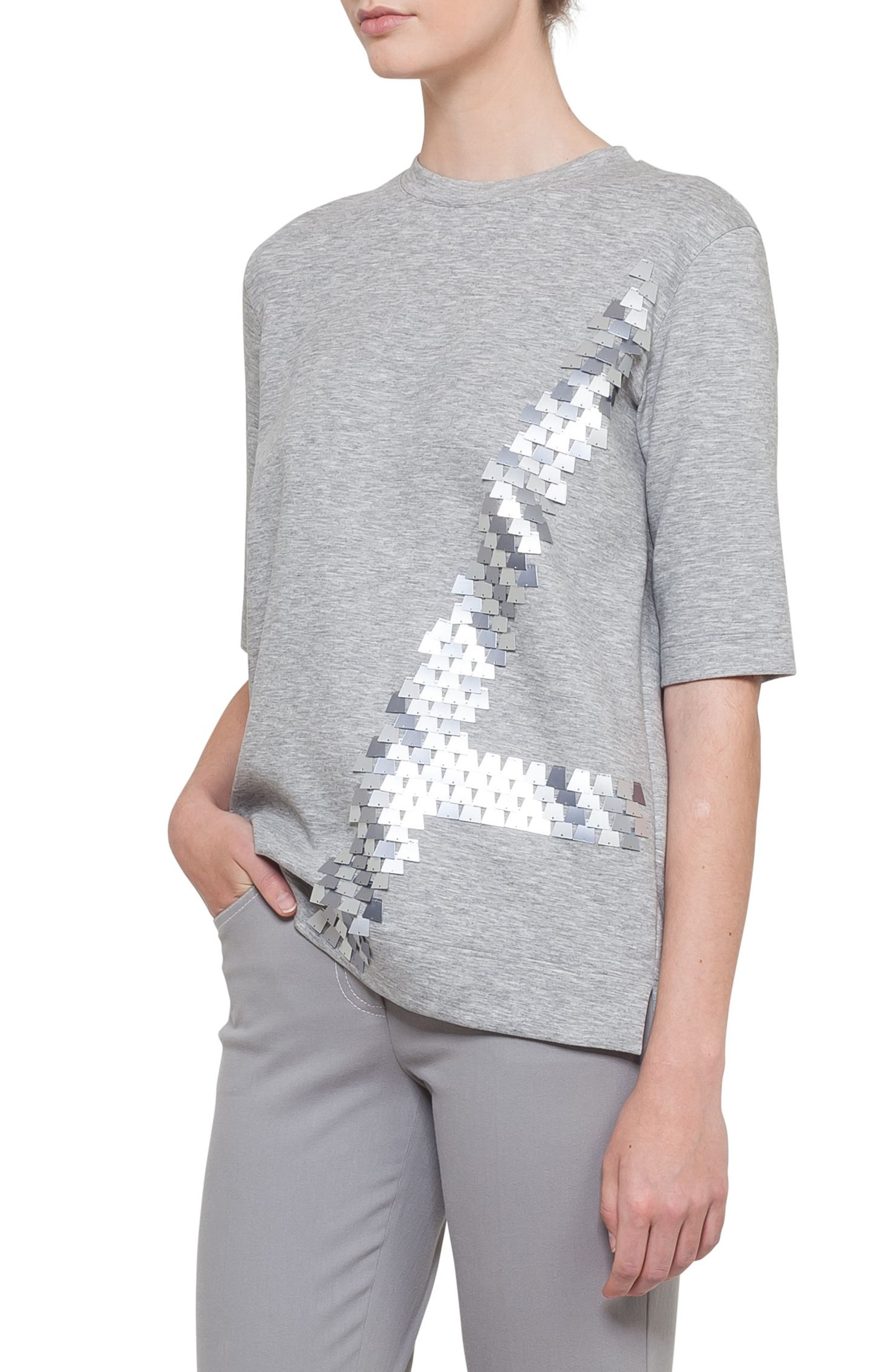 Akris Sequined Jersey Top