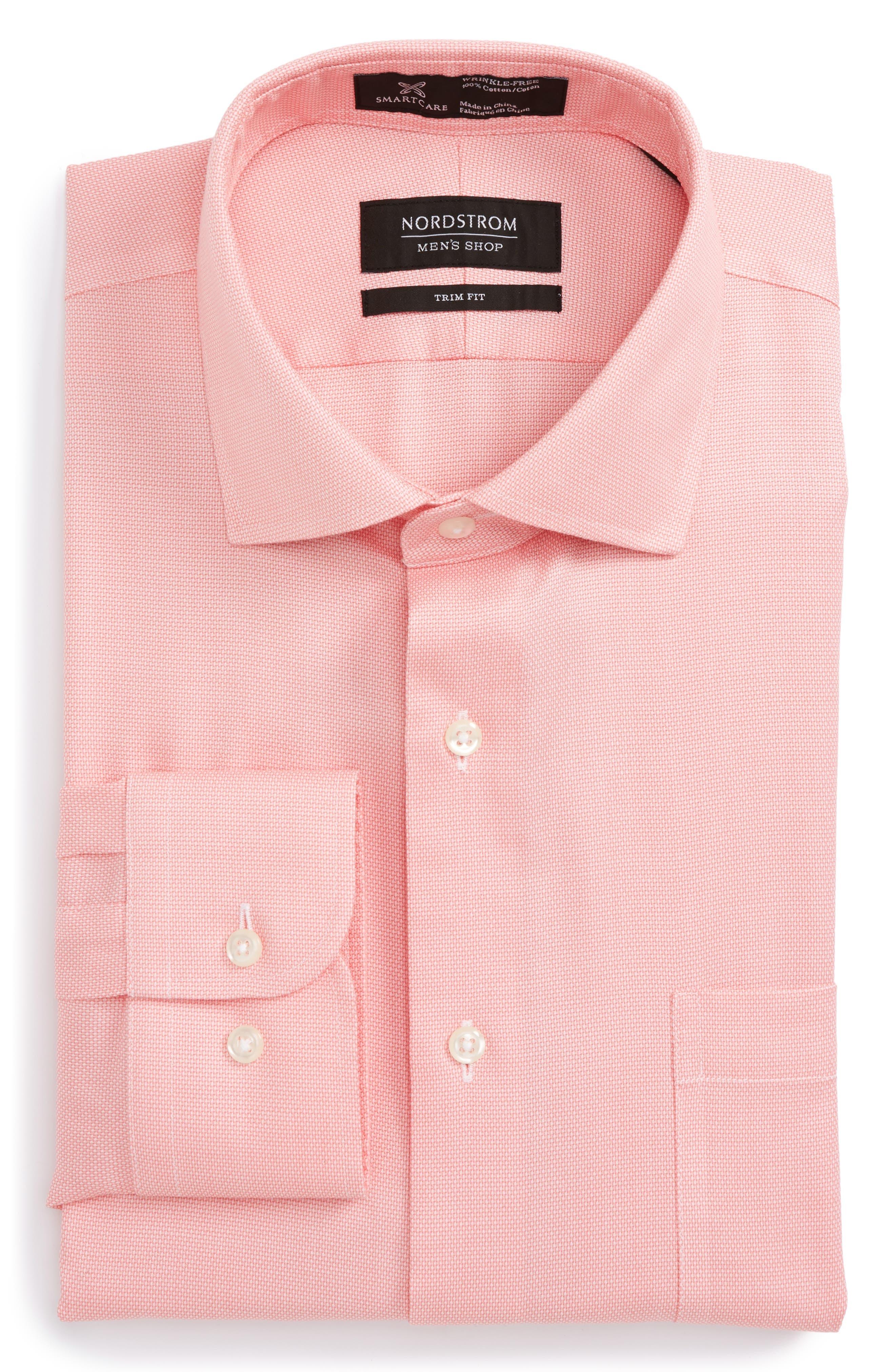 Main Image - Nordstrom Men's Shop Smartcare™ Trim Fit Oxford Dress Shirt
