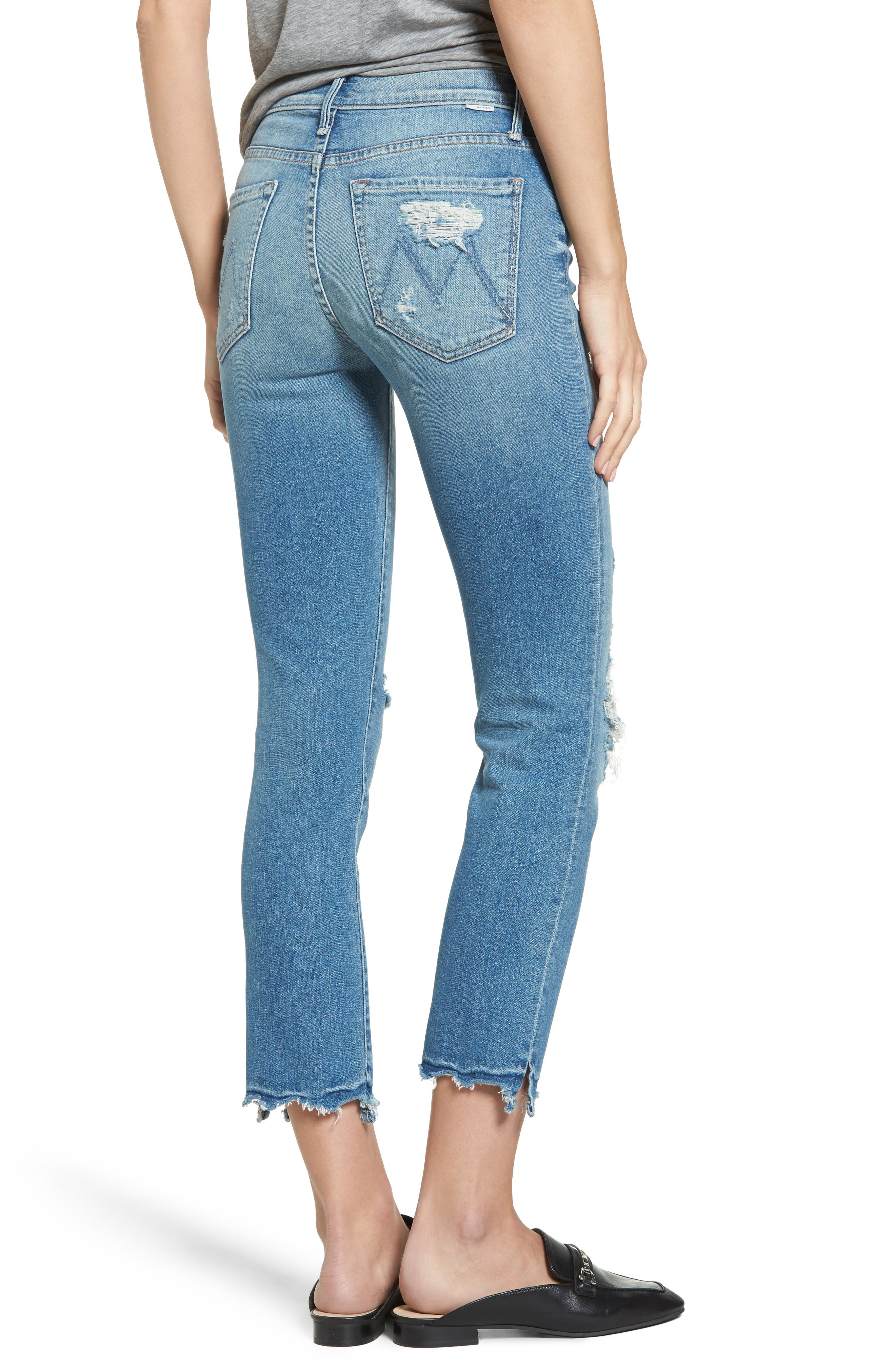 The Rascal High Waist Ankle Jeans,                             Alternate thumbnail 3, color,                             Push The Envelope