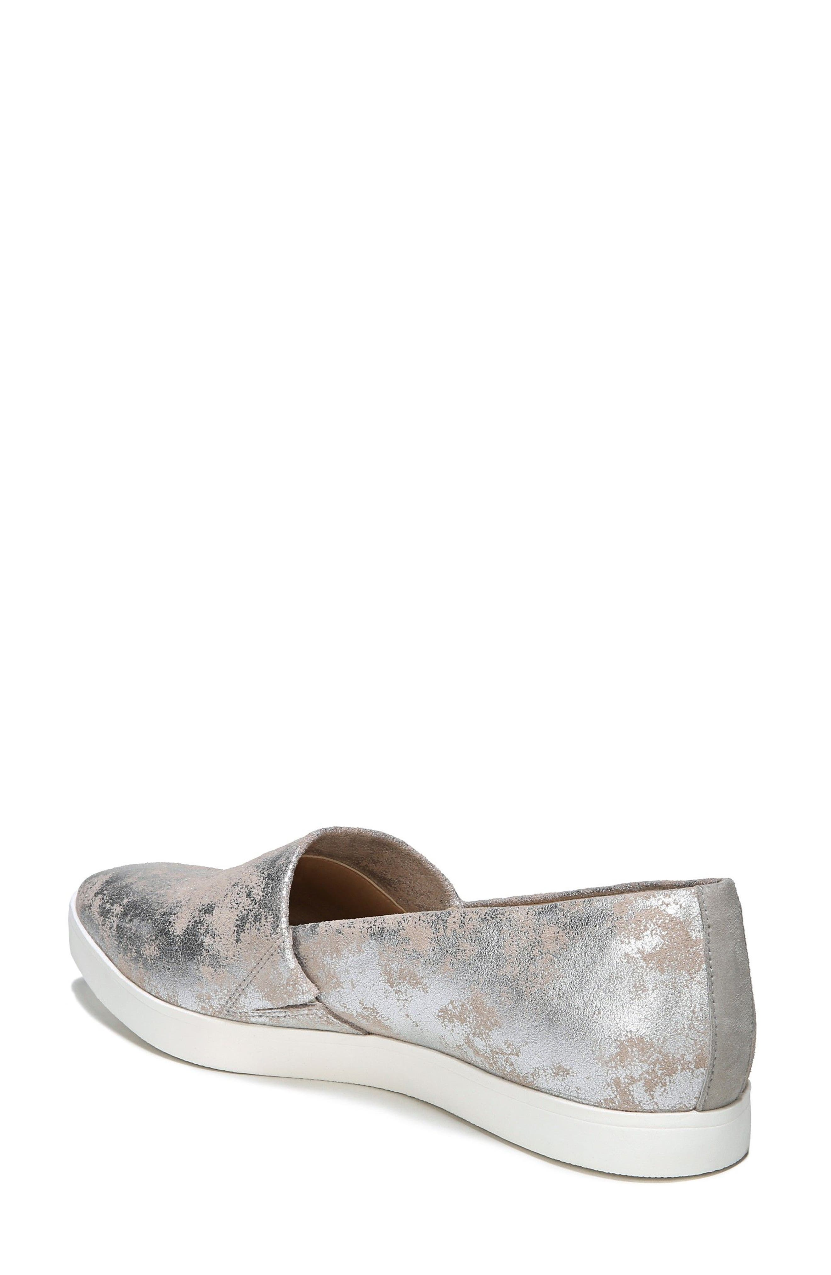 'Vienna' Slip-on Sneaker,                             Alternate thumbnail 2, color,                             Silver Leather
