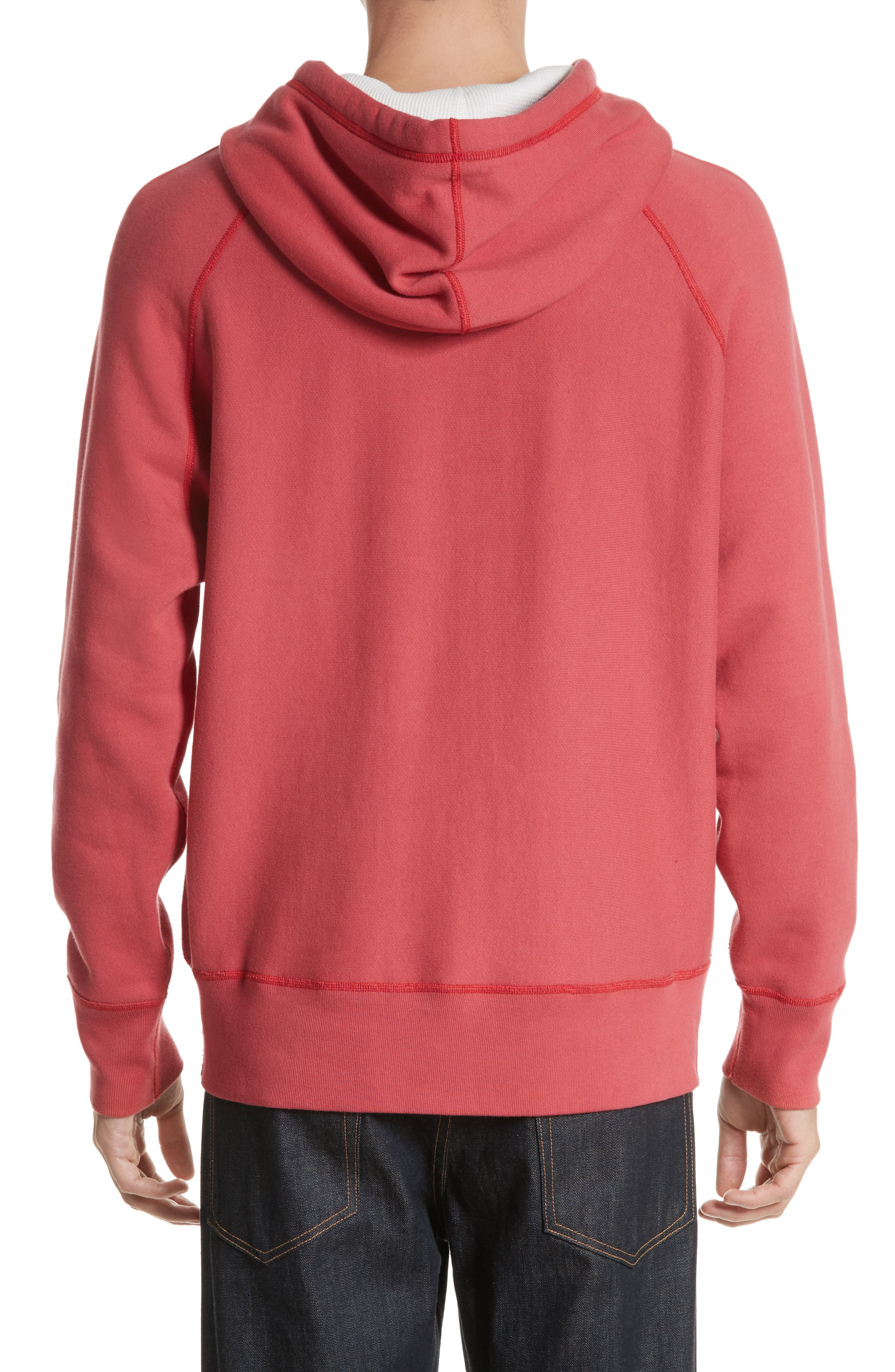 Racer Hoodie,                             Alternate thumbnail 2, color,                             Washed Red