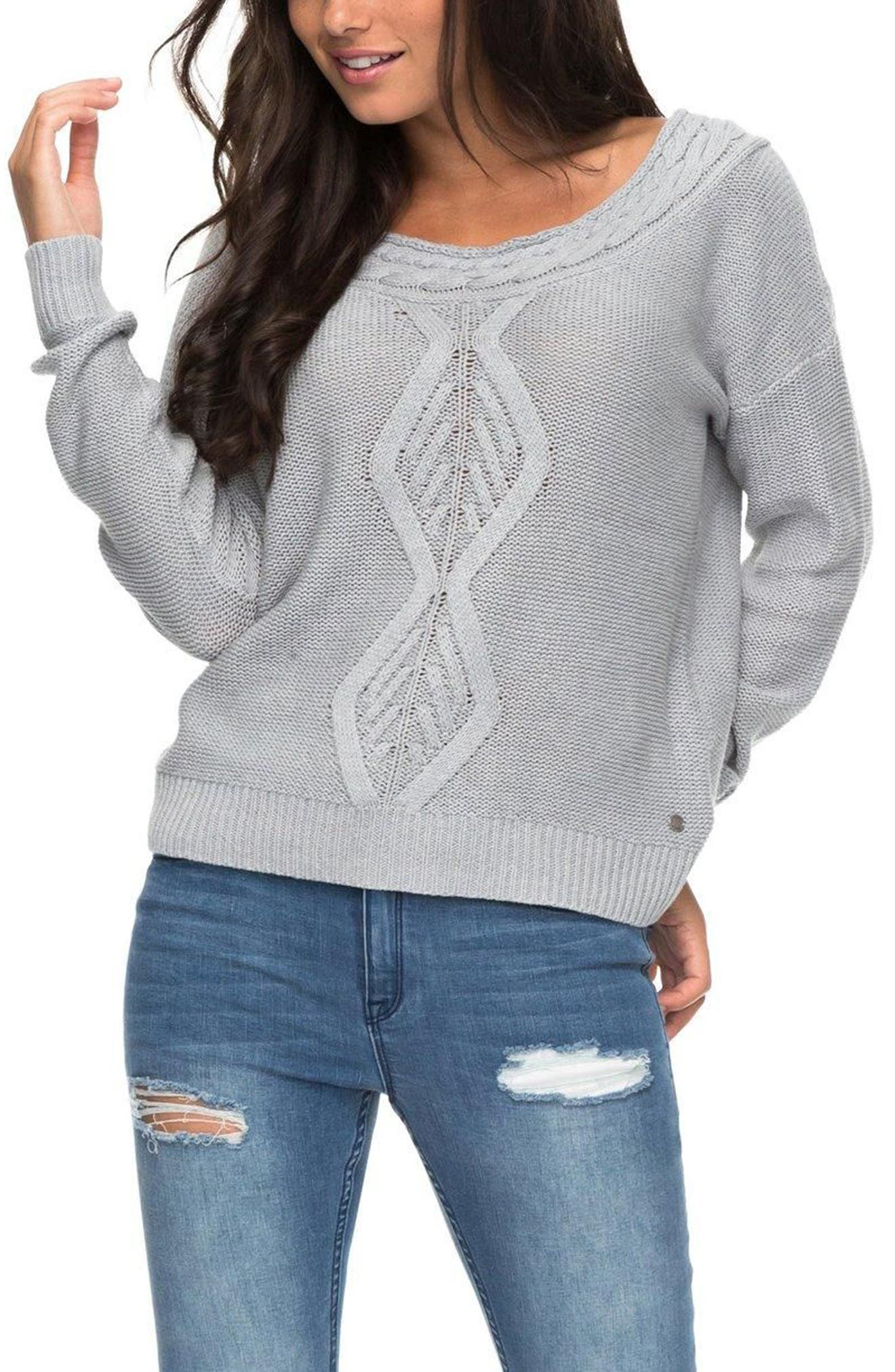 Choose to Shine Sweater,                             Main thumbnail 1, color,                             Heritage Heather