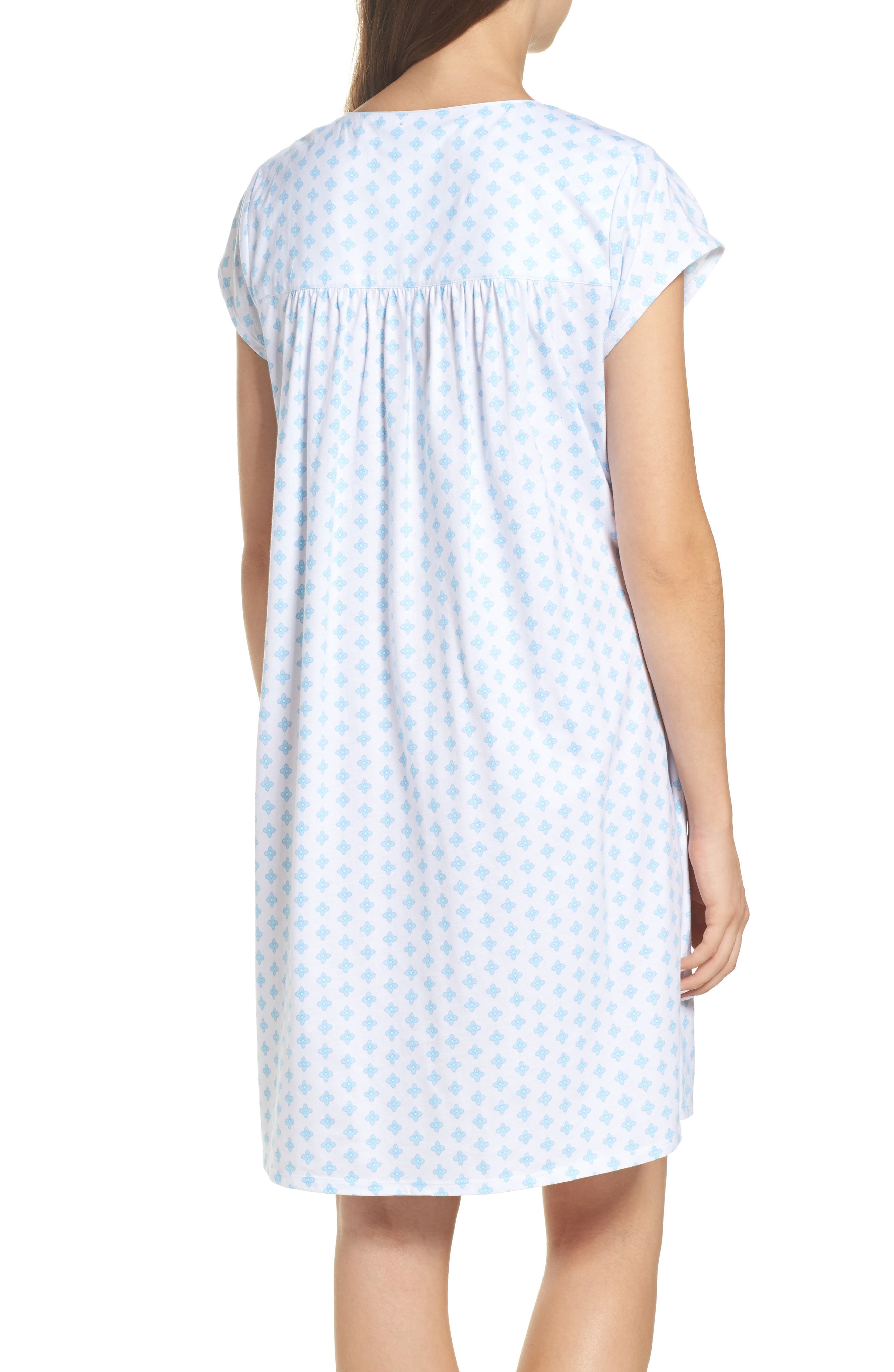 Short Nightgown,                             Alternate thumbnail 2, color,                             Blue Geo