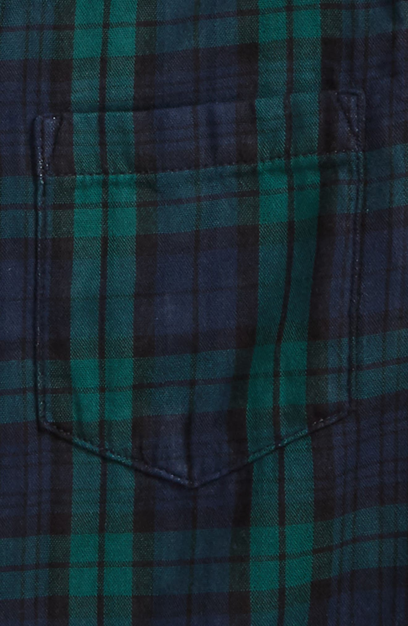 Plaid Woven Shirt,                             Alternate thumbnail 3, color,                             Green Double Faced Plaid