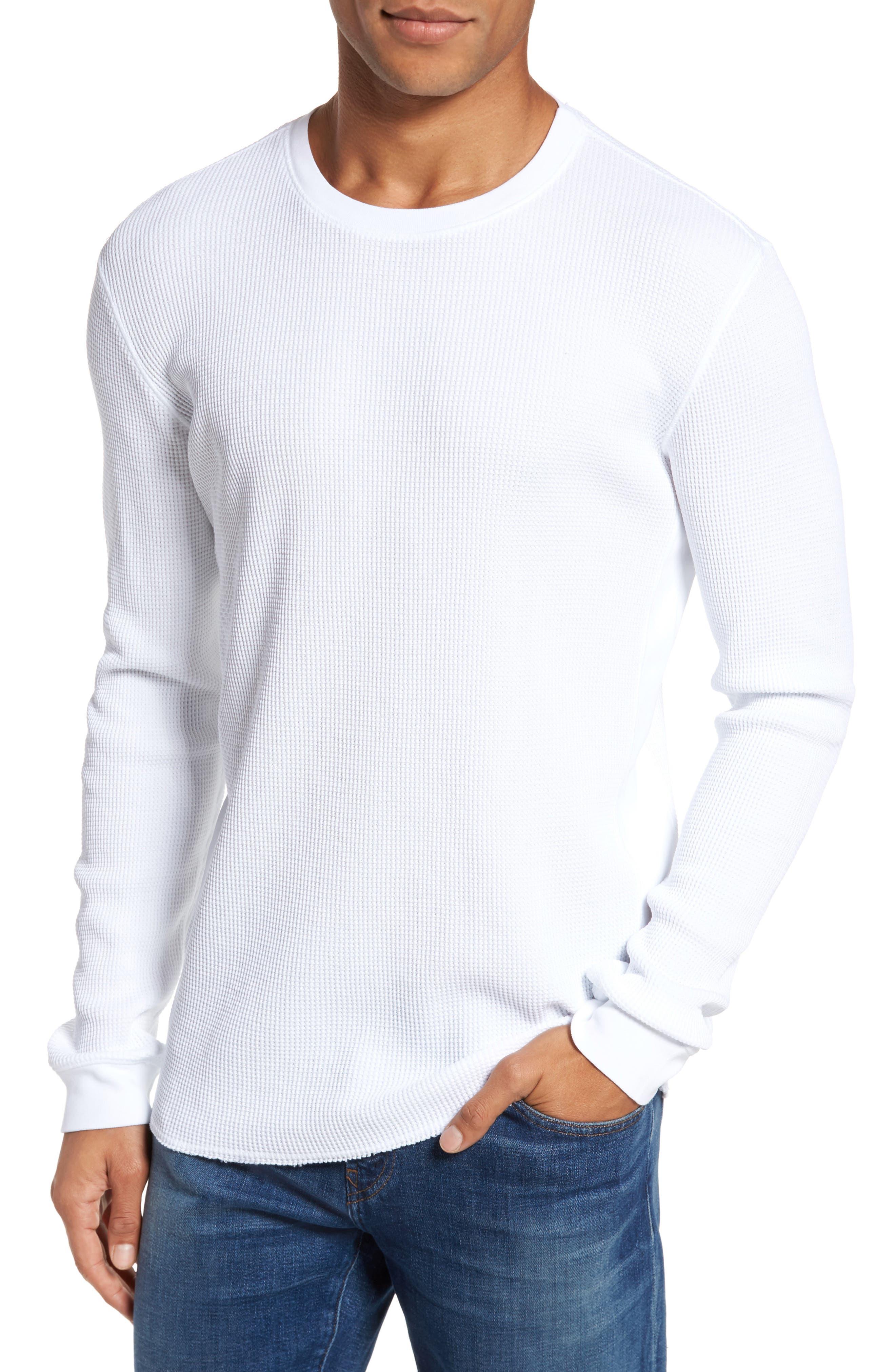 Travis Slim Fit Long Sleeve T-Shirt,                         Main,                         color, True White