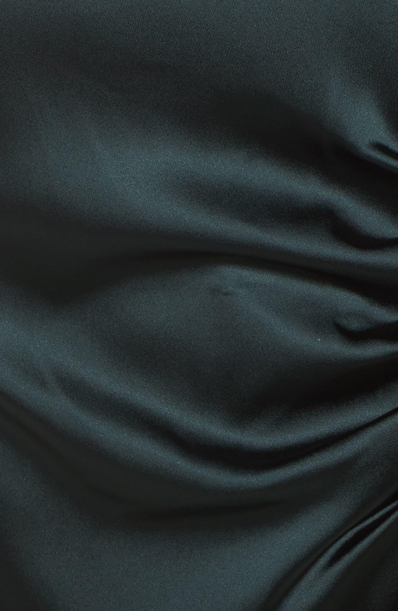 Alternate Image 5  - Tahari Side Pleat Satin Sheath Dress (Plus Size)