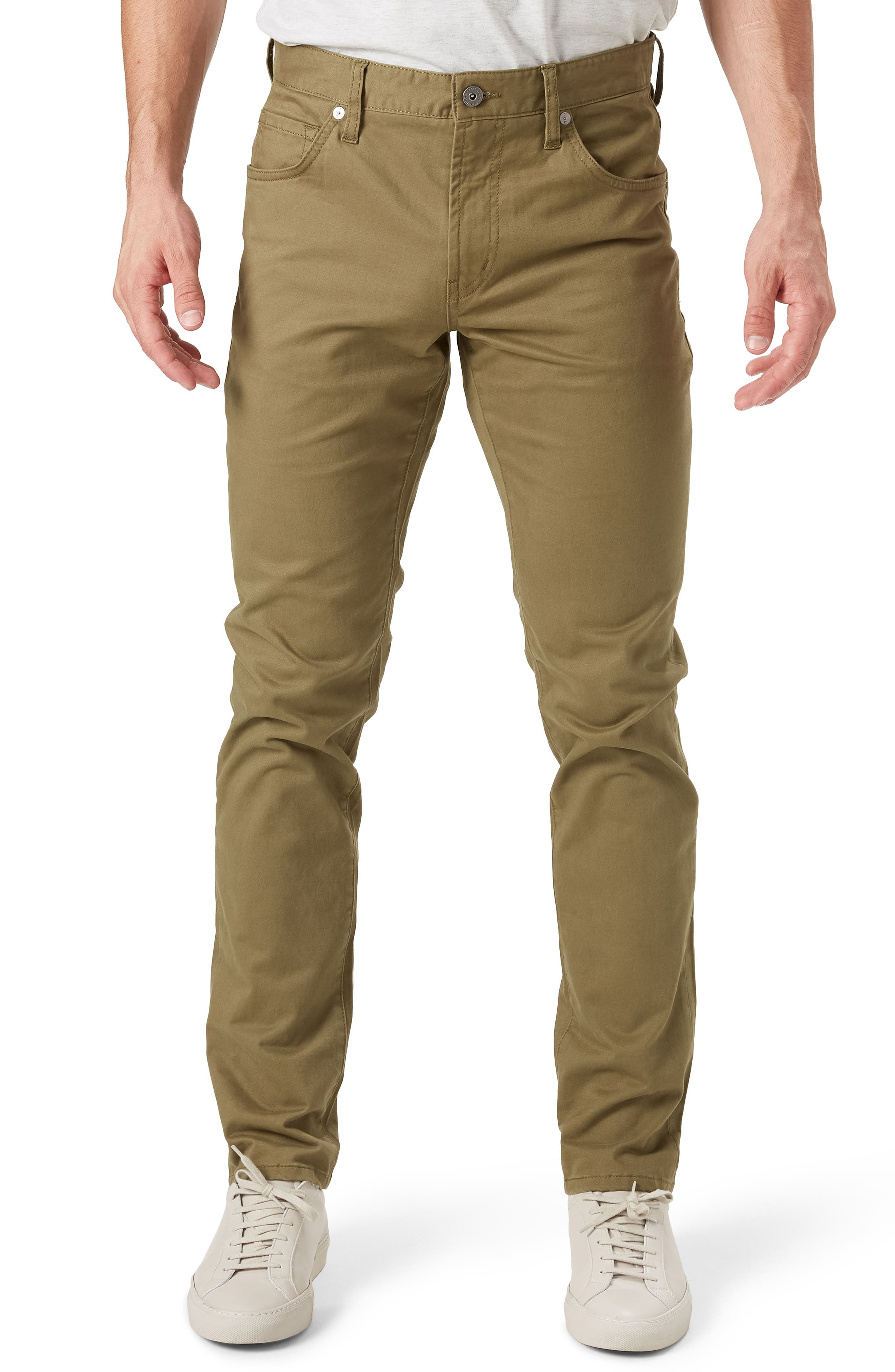 Brushed Twill Five-Pocket Pants,                         Main,                         color, Chip