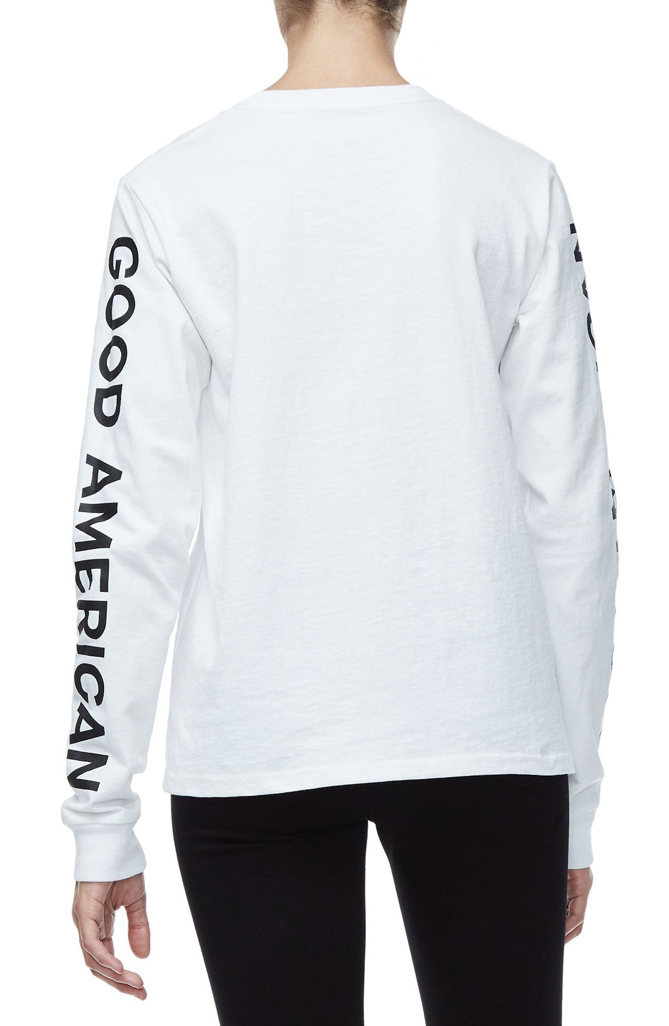 Goodies Long Sleeve Graphic Tee,                             Alternate thumbnail 3, color,                             White001