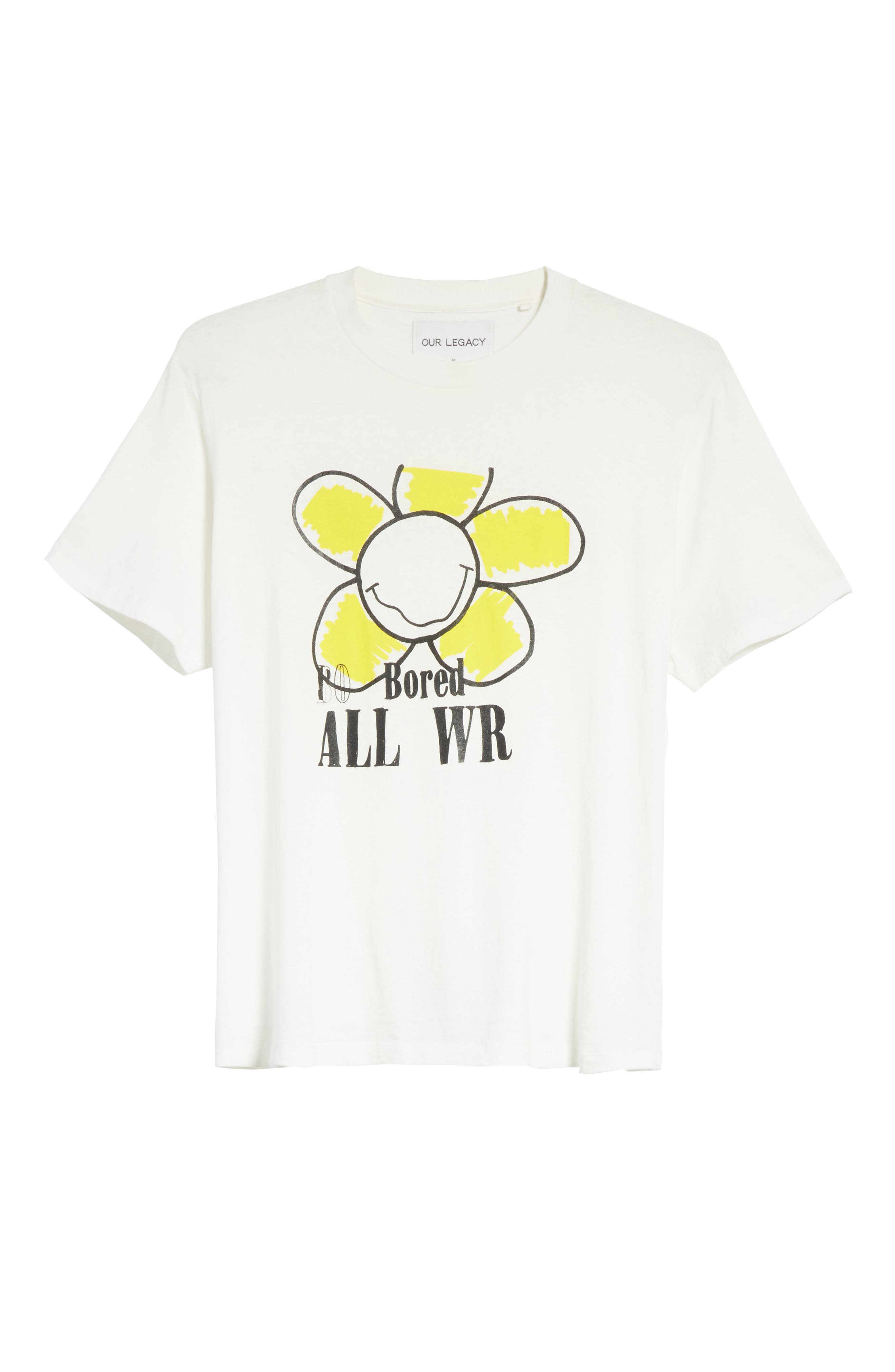 Bored Is All We Are Graphic T-Shirt,                             Alternate thumbnail 6, color,                             White