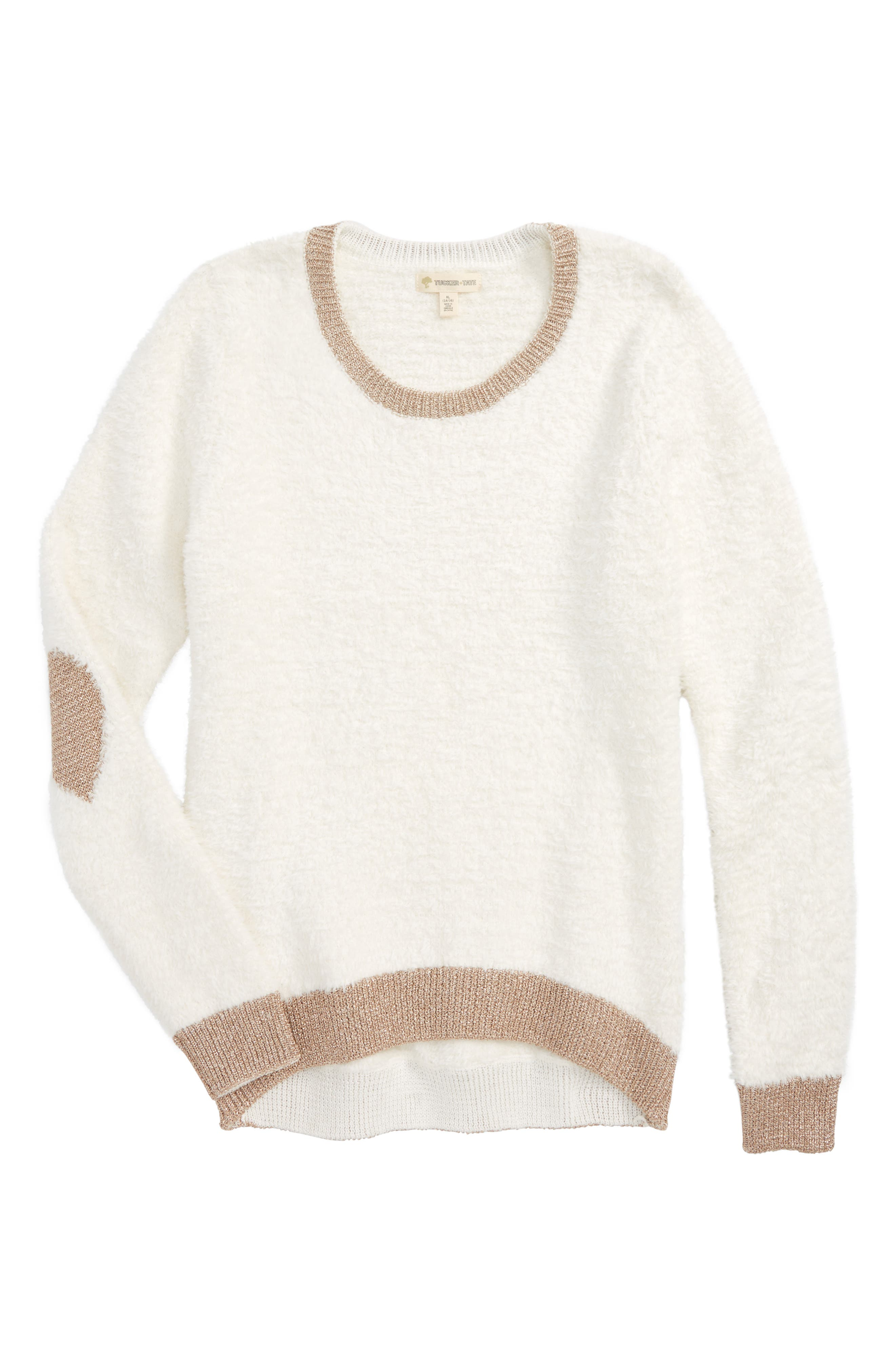 Teddy Pullover Sweater,                         Main,                         color, Ivory Egret