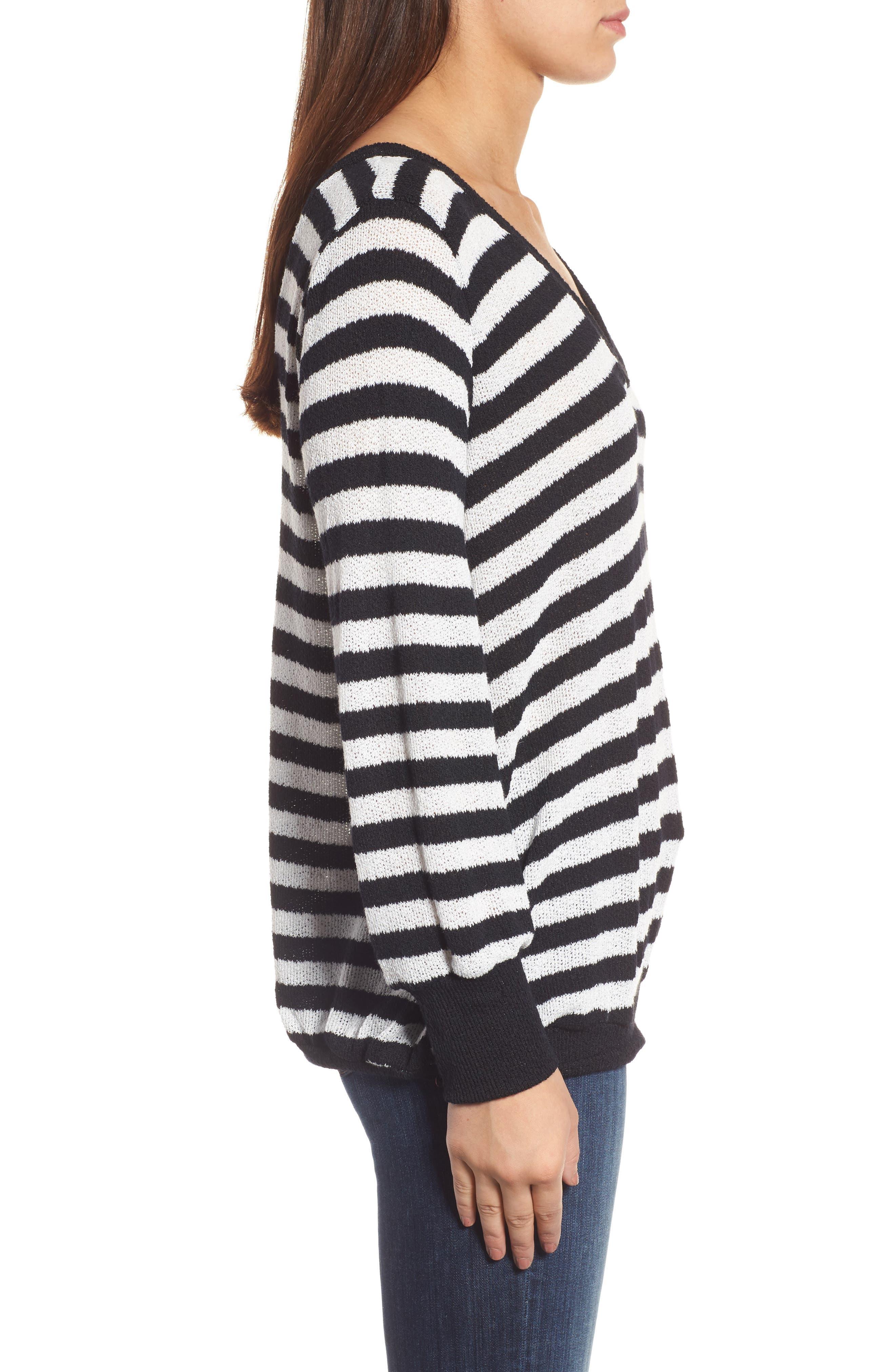 Alternate Image 3  - Caslon® Double V-Neck Relaxed Pullover