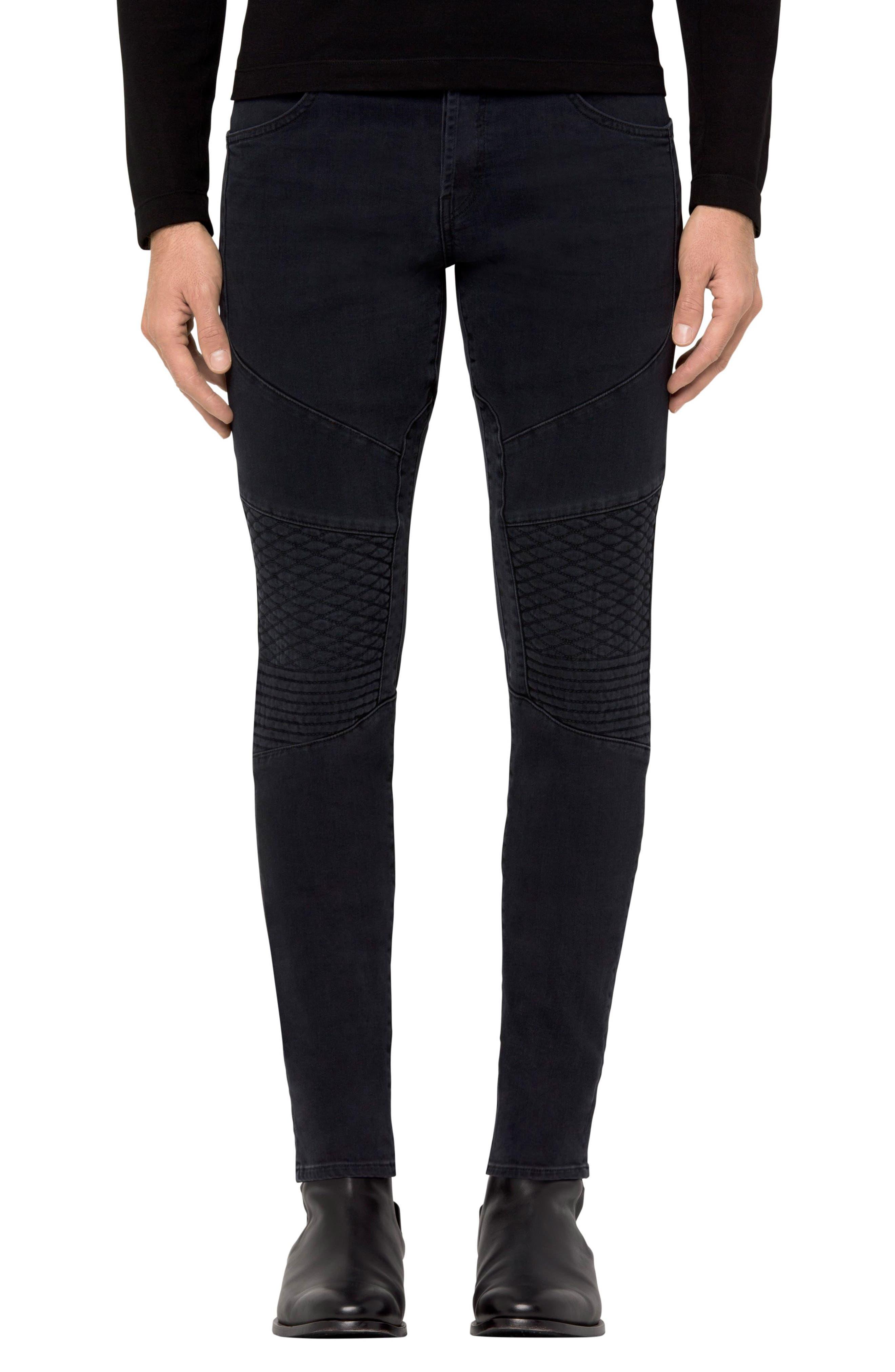 J Brand Bearden Moto Skinny Fit Jeans (Alpha)