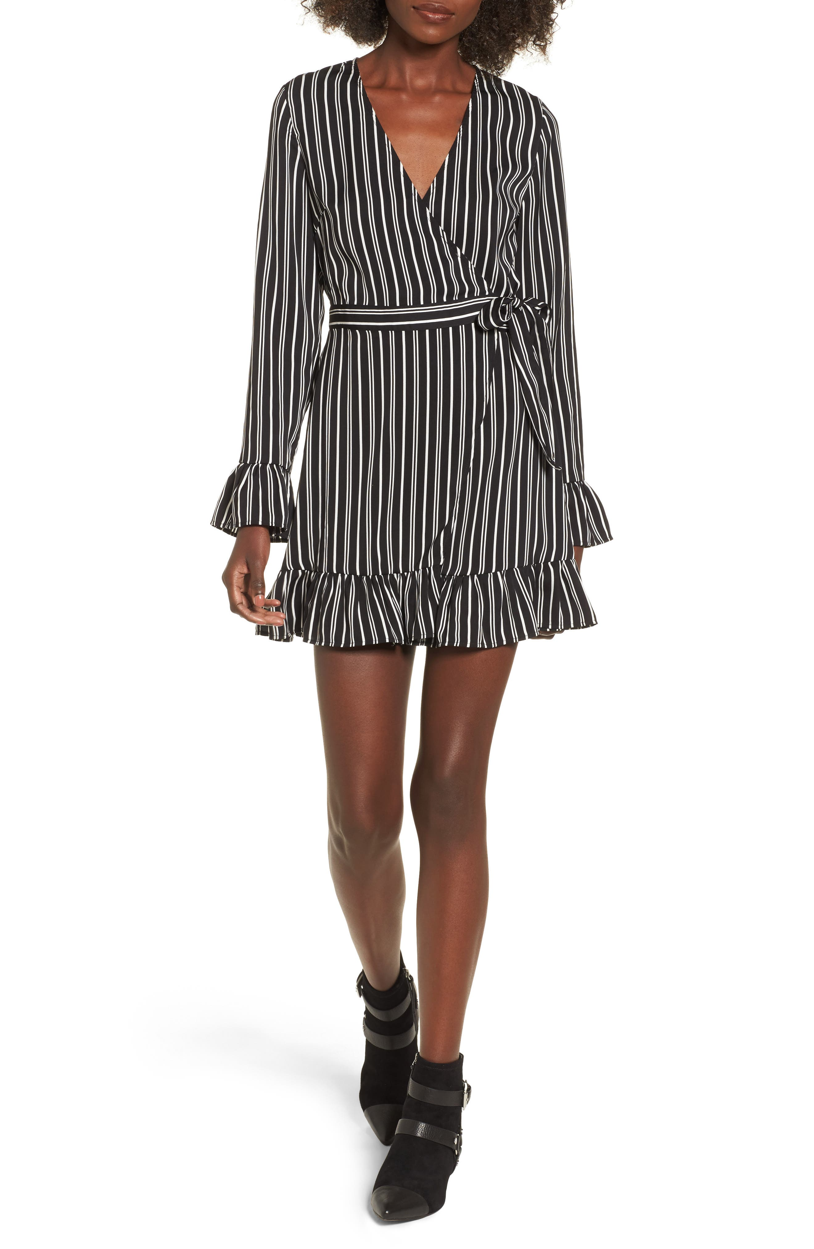 Main Image - The Fifth Label Ophelia Stripe Wrap Dress