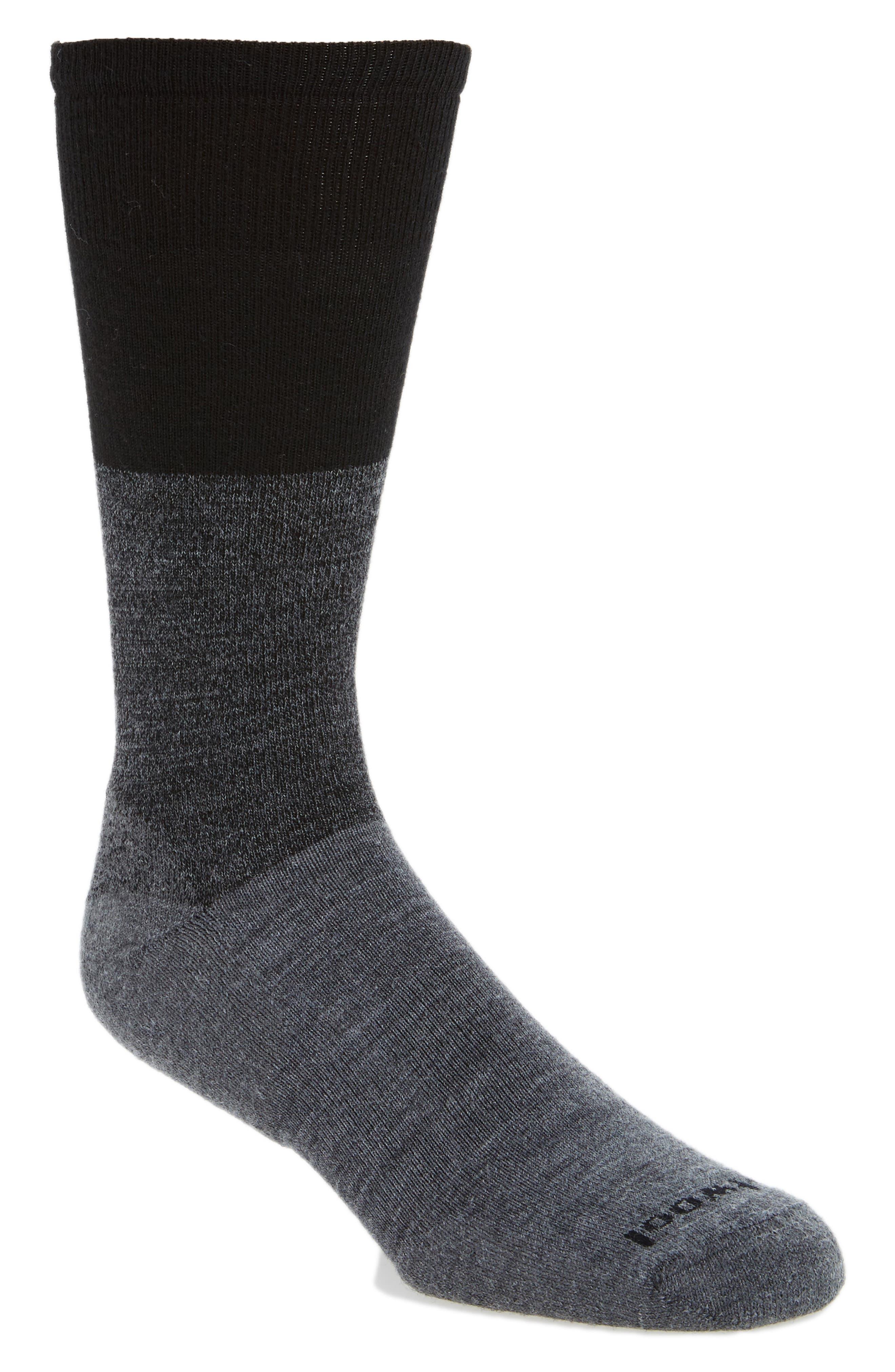 Faversham Colorblock Socks,                             Main thumbnail 1, color,                             Medium Grey Heather