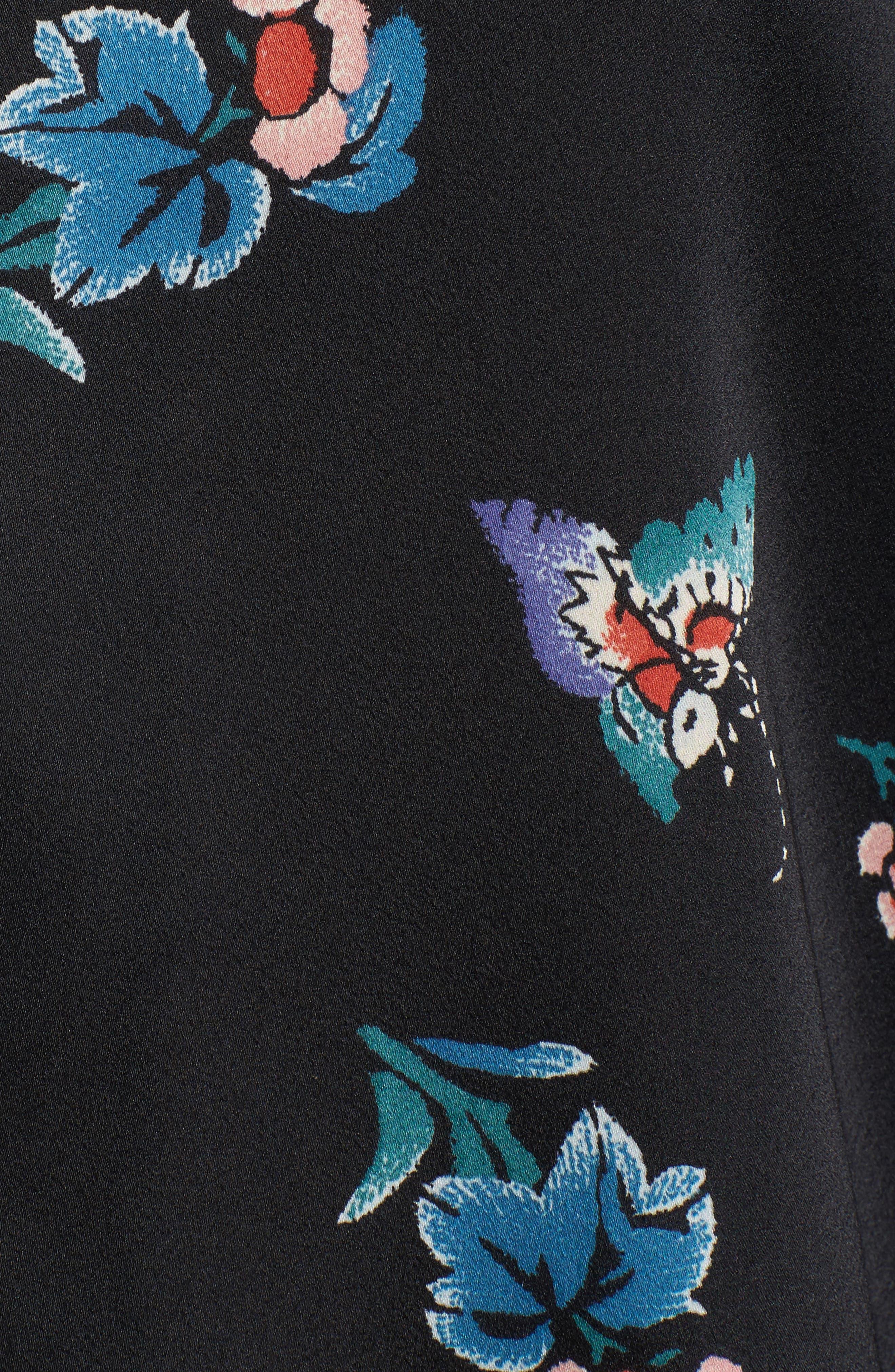 Papillon Print Short Pajamas,                             Alternate thumbnail 6, color,                             Blk Black Print