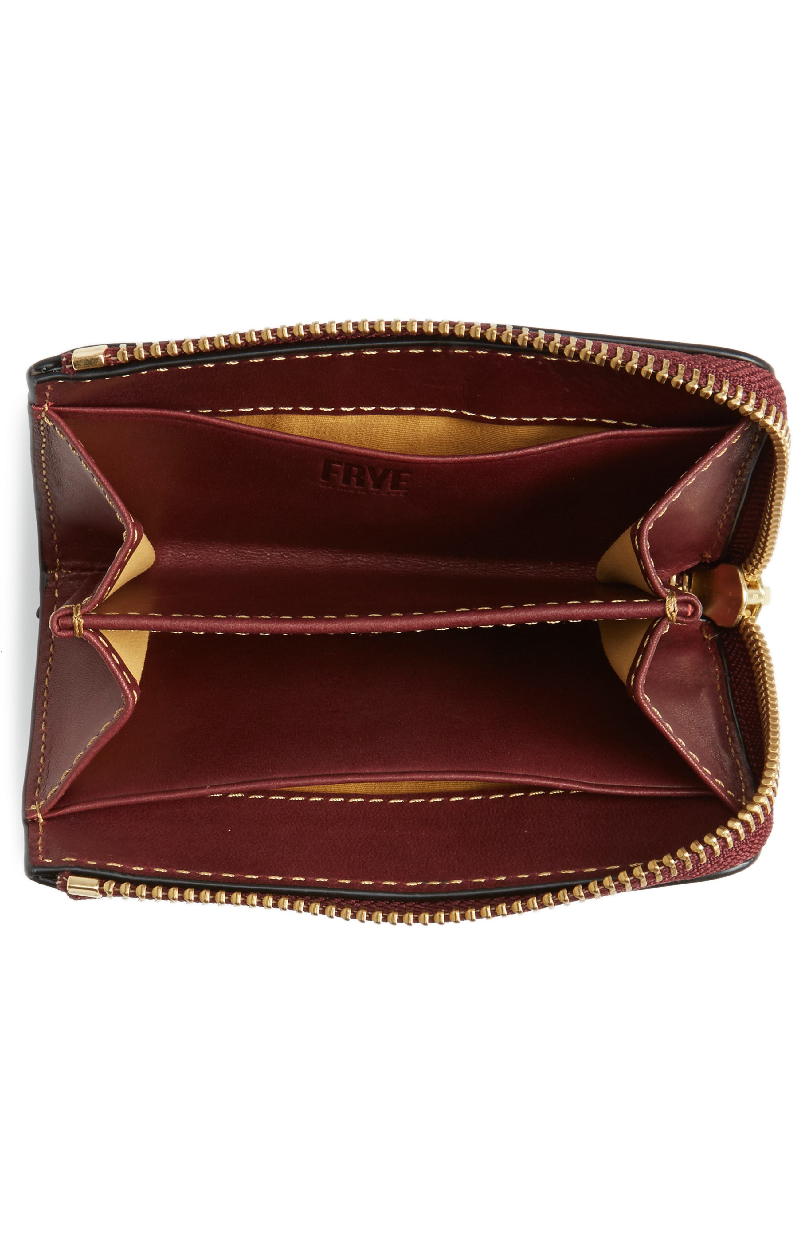 Small Ilana Harness Zip Leather Wallet,                             Alternate thumbnail 2, color,                             Wine