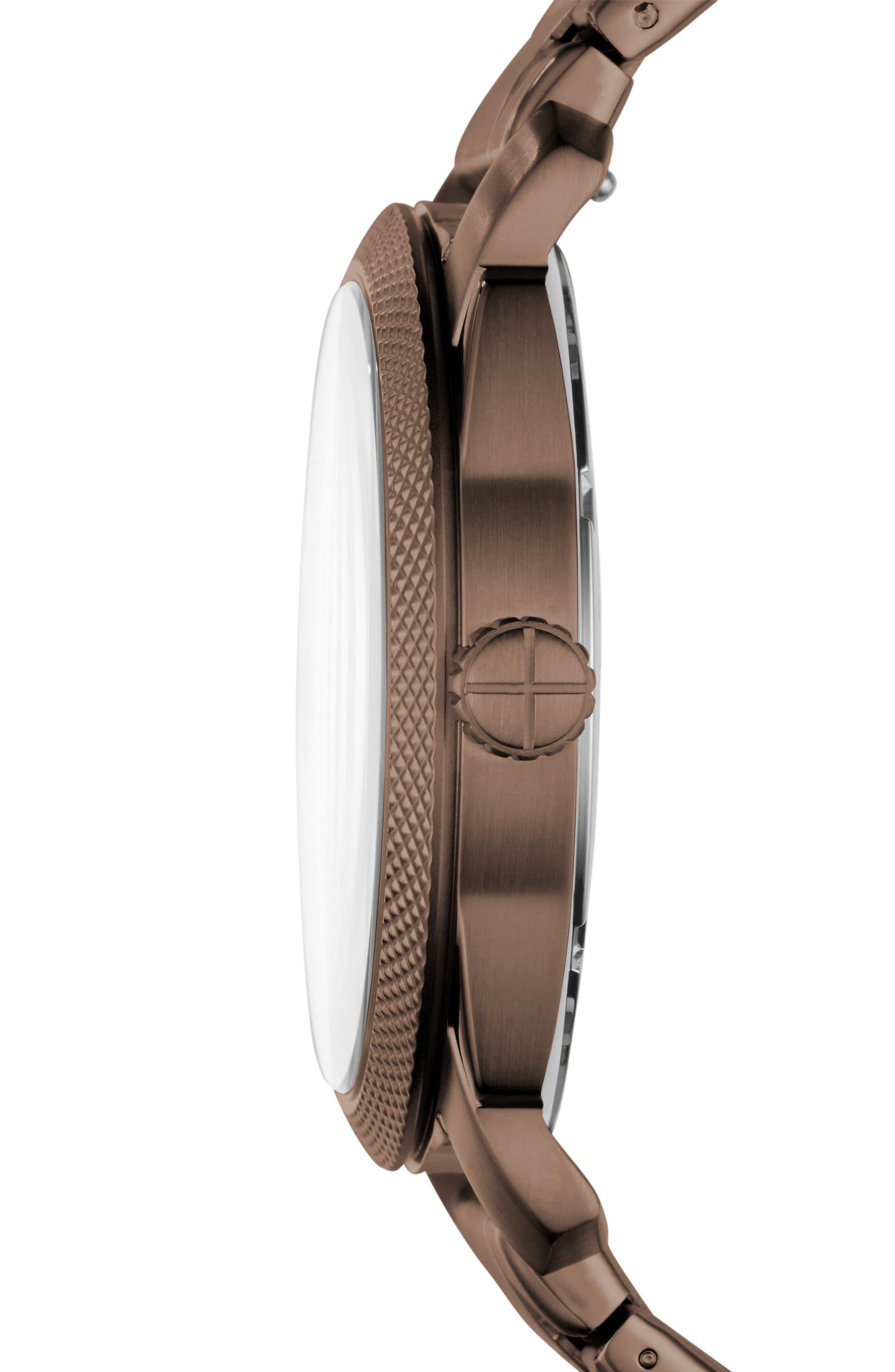 Machine Bracelet Watch, 42mm,                             Alternate thumbnail 2, color,                             Brown